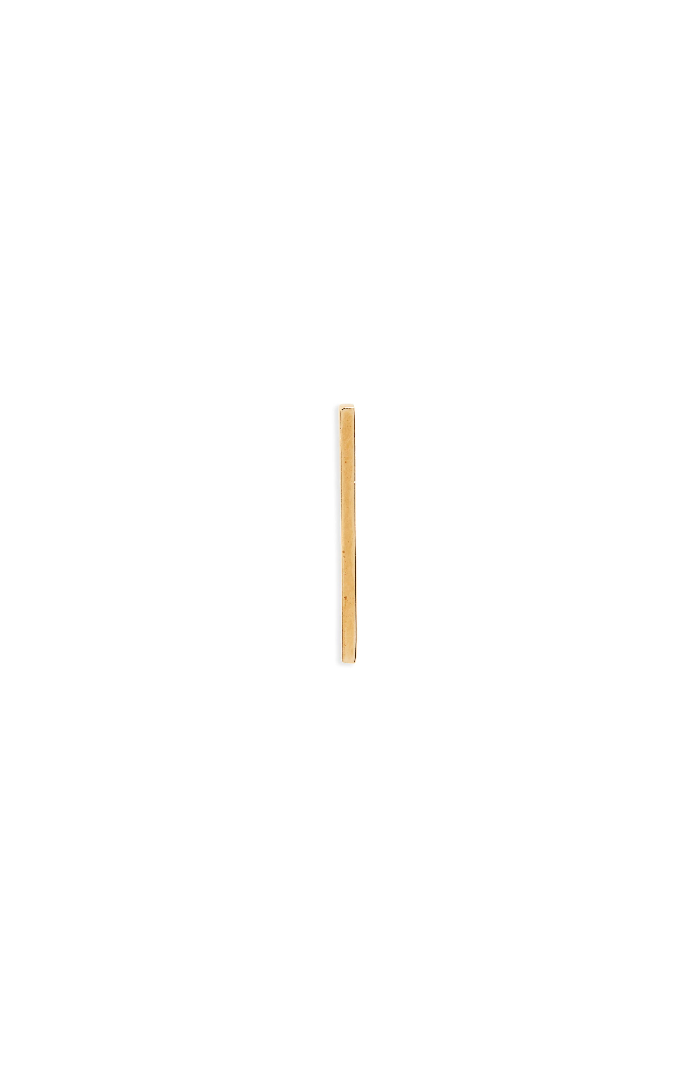 Long Bar Stud Earring,                             Main thumbnail 1, color,                             Gold