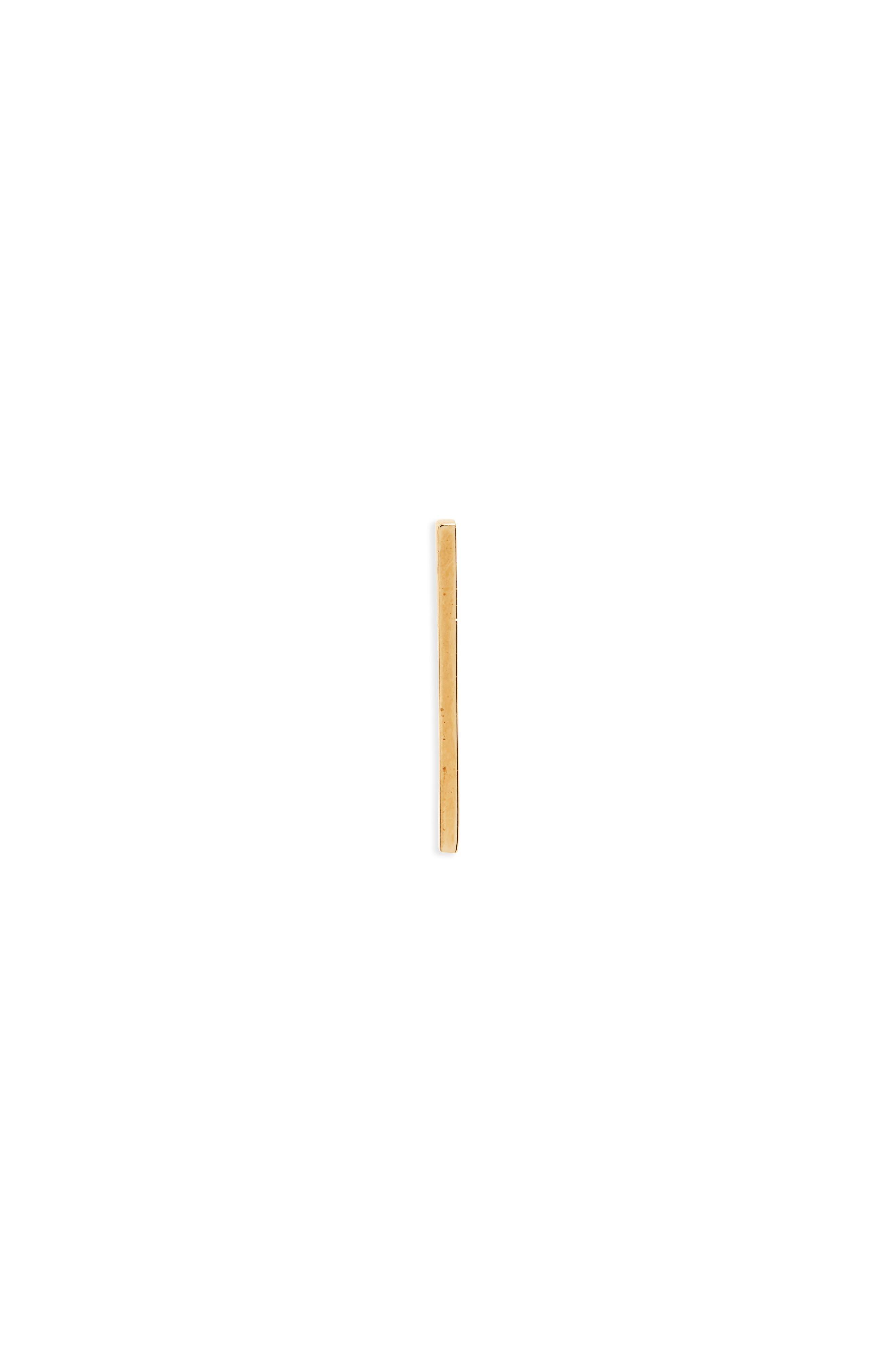 Long Bar Stud Earring,                         Main,                         color, Gold