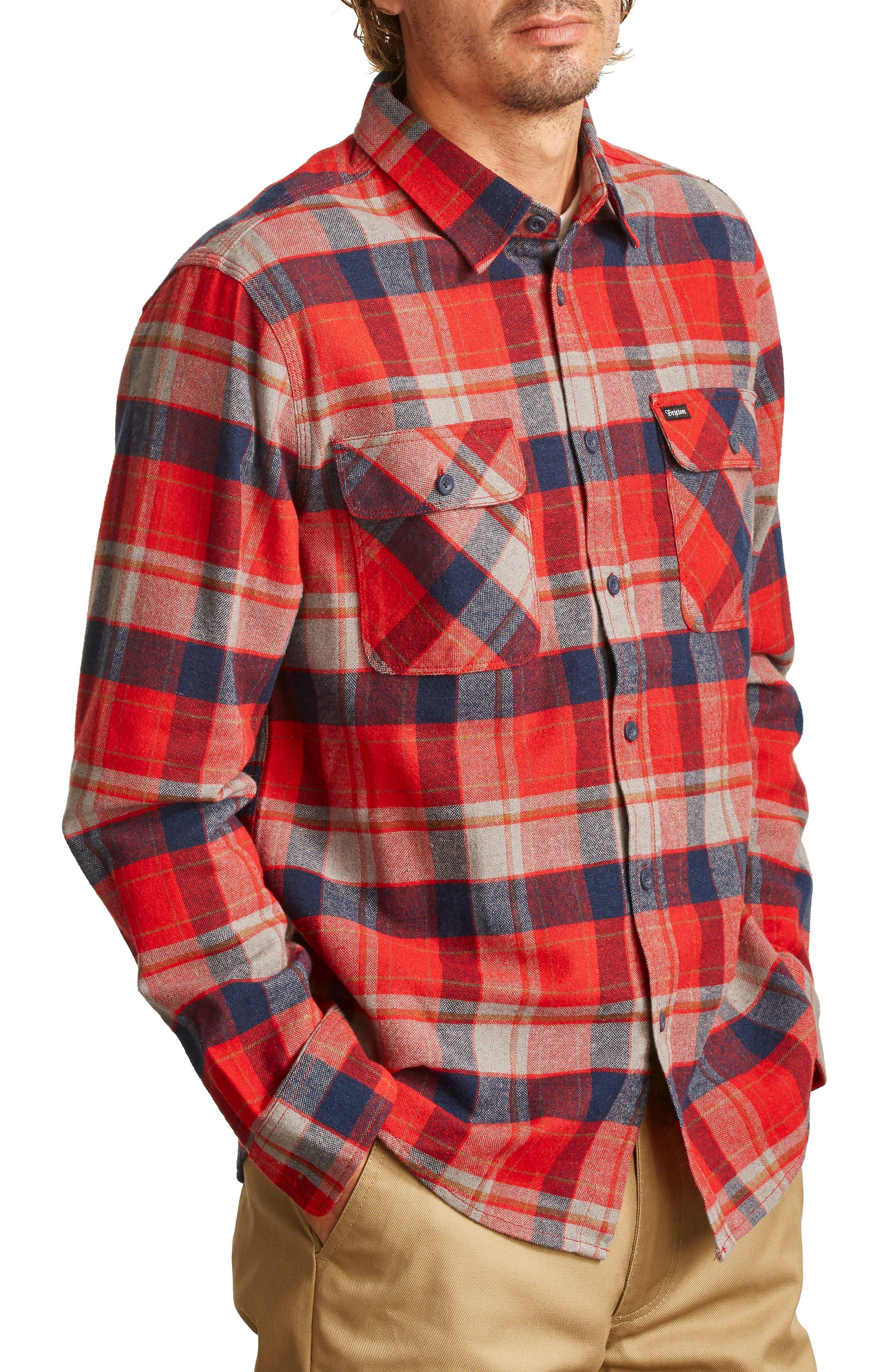 Alternate Image 3  - Brixton Bowery Flannel Shirt