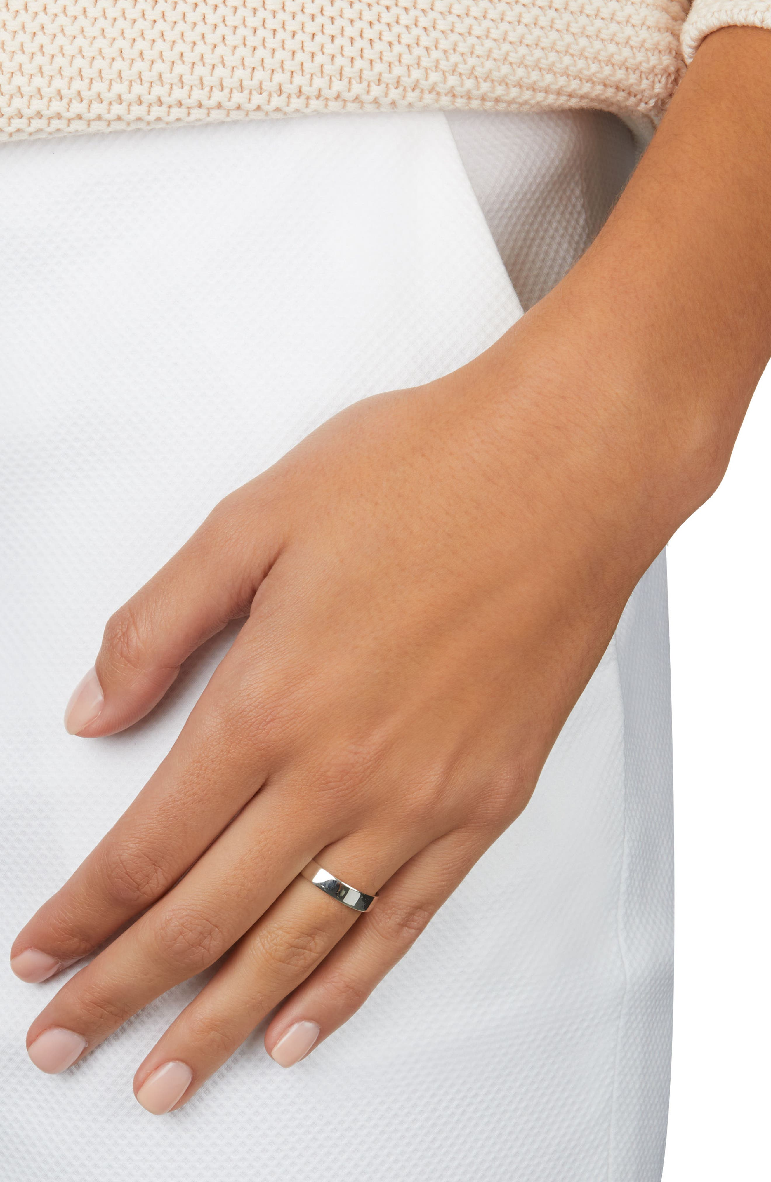 Fiji Band Ring,                             Alternate thumbnail 2, color,                             Silver