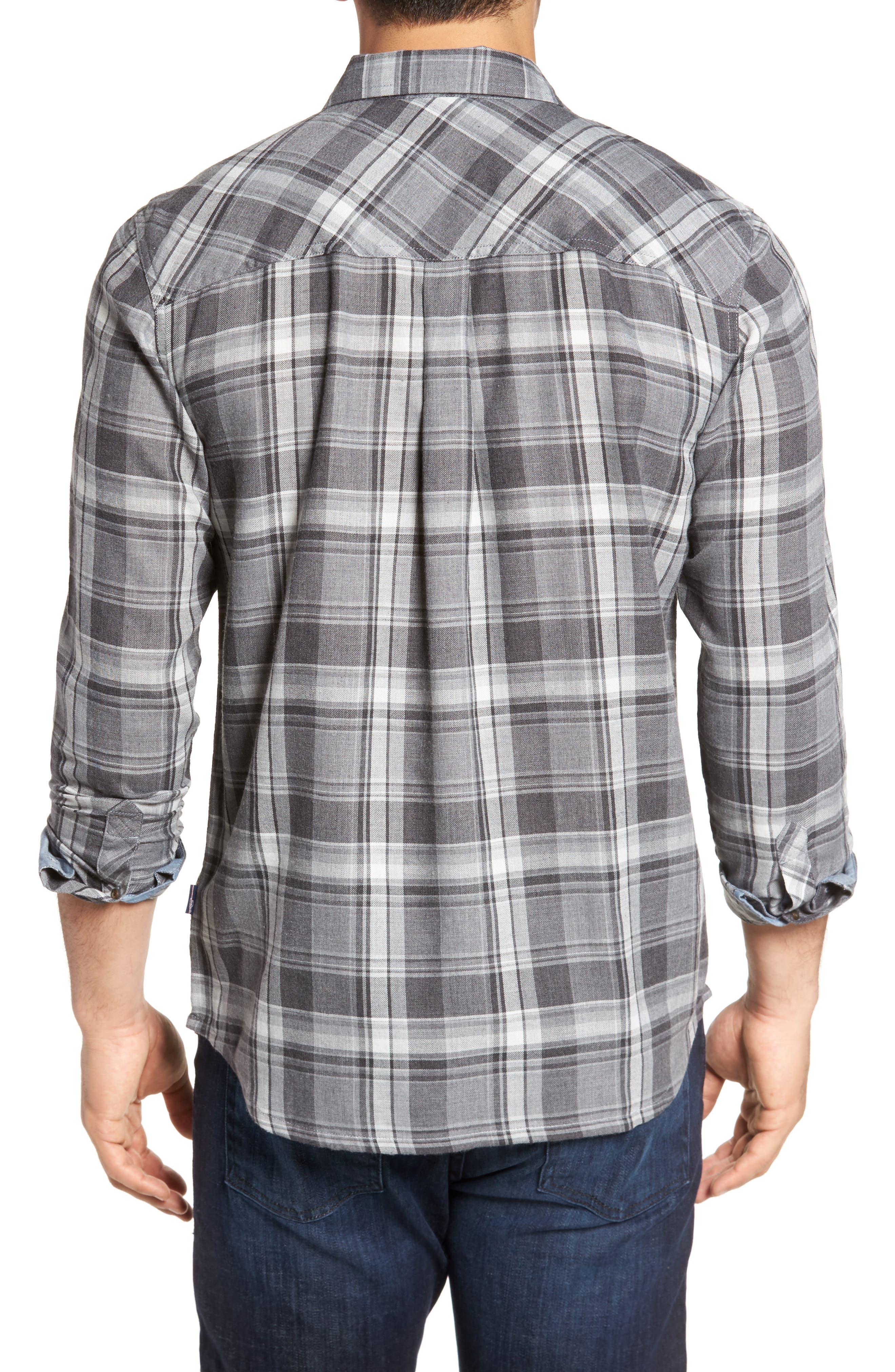 Shelter Plaid Sport Shirt,                             Alternate thumbnail 2, color,                             Grey