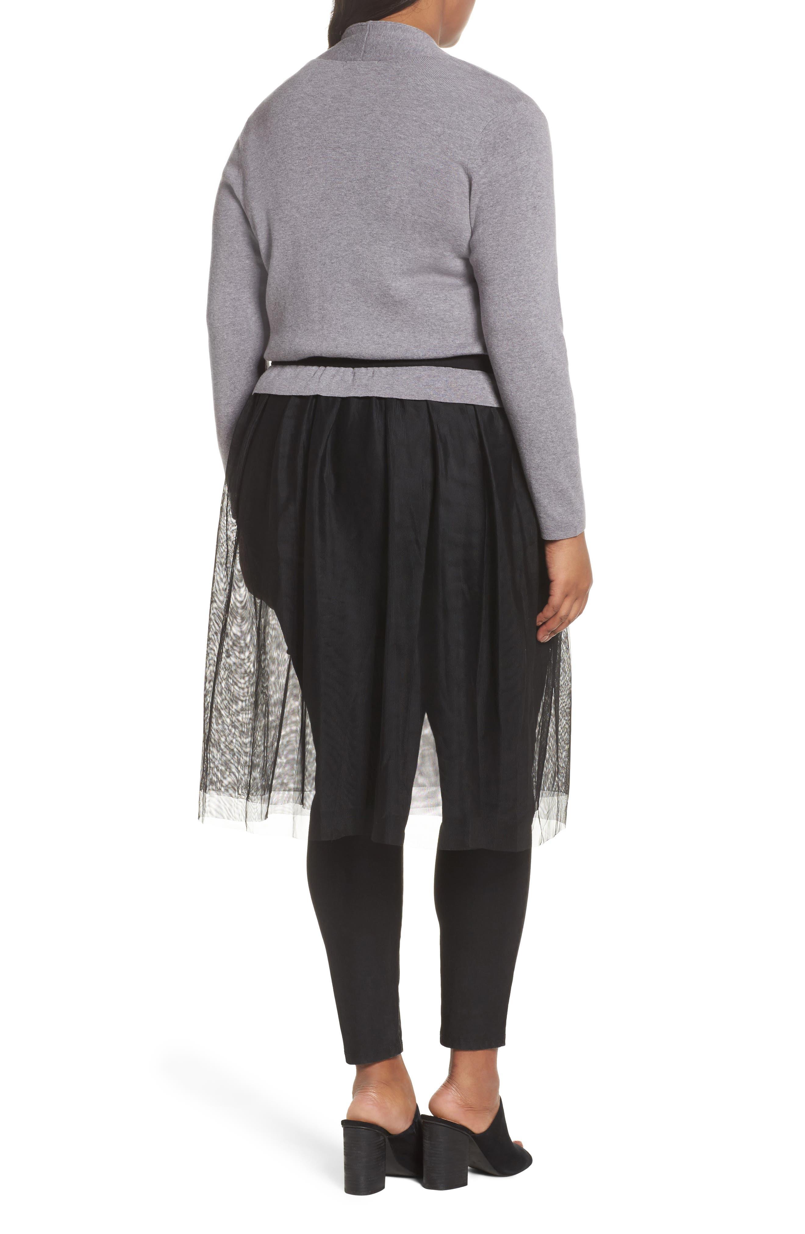 Alternate Image 2  - NIC+ZOE Tulle Time Cardigan (Plus Size)