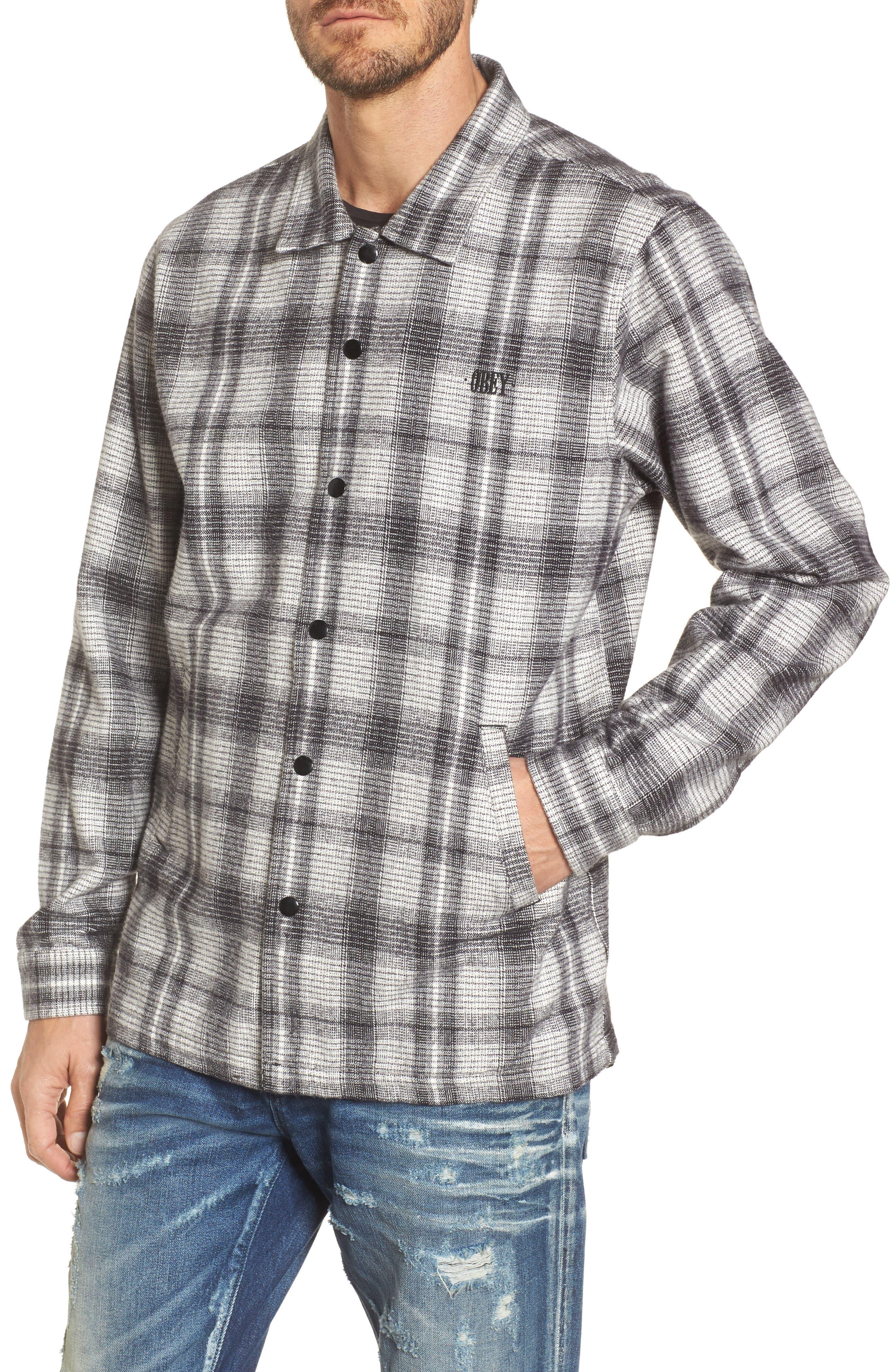 Whittier Plaid Flannel Shirt Jacket,                             Alternate thumbnail 4, color,                             Neutral Grey Multi