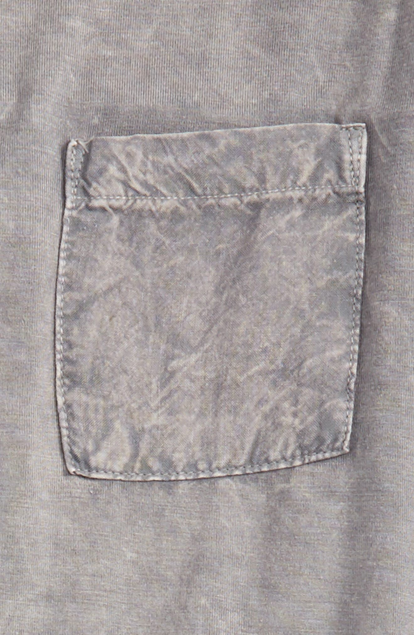 Mineral Wash Sleeveless Tunic,                             Alternate thumbnail 3, color,                             Charcoal