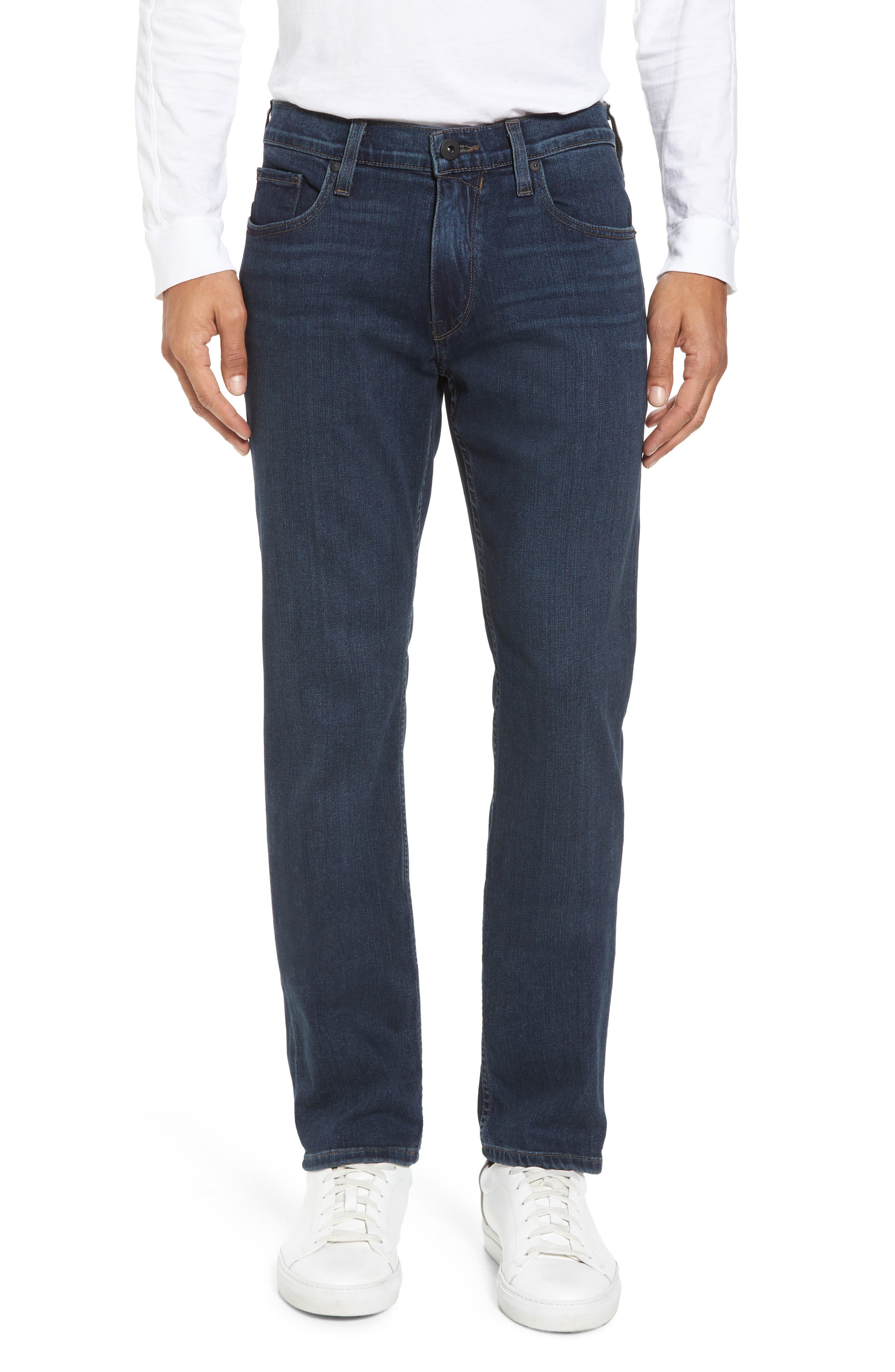 Transcend - Federal Slim Straight Fit Jeans,                             Main thumbnail 1, color,                             Benji