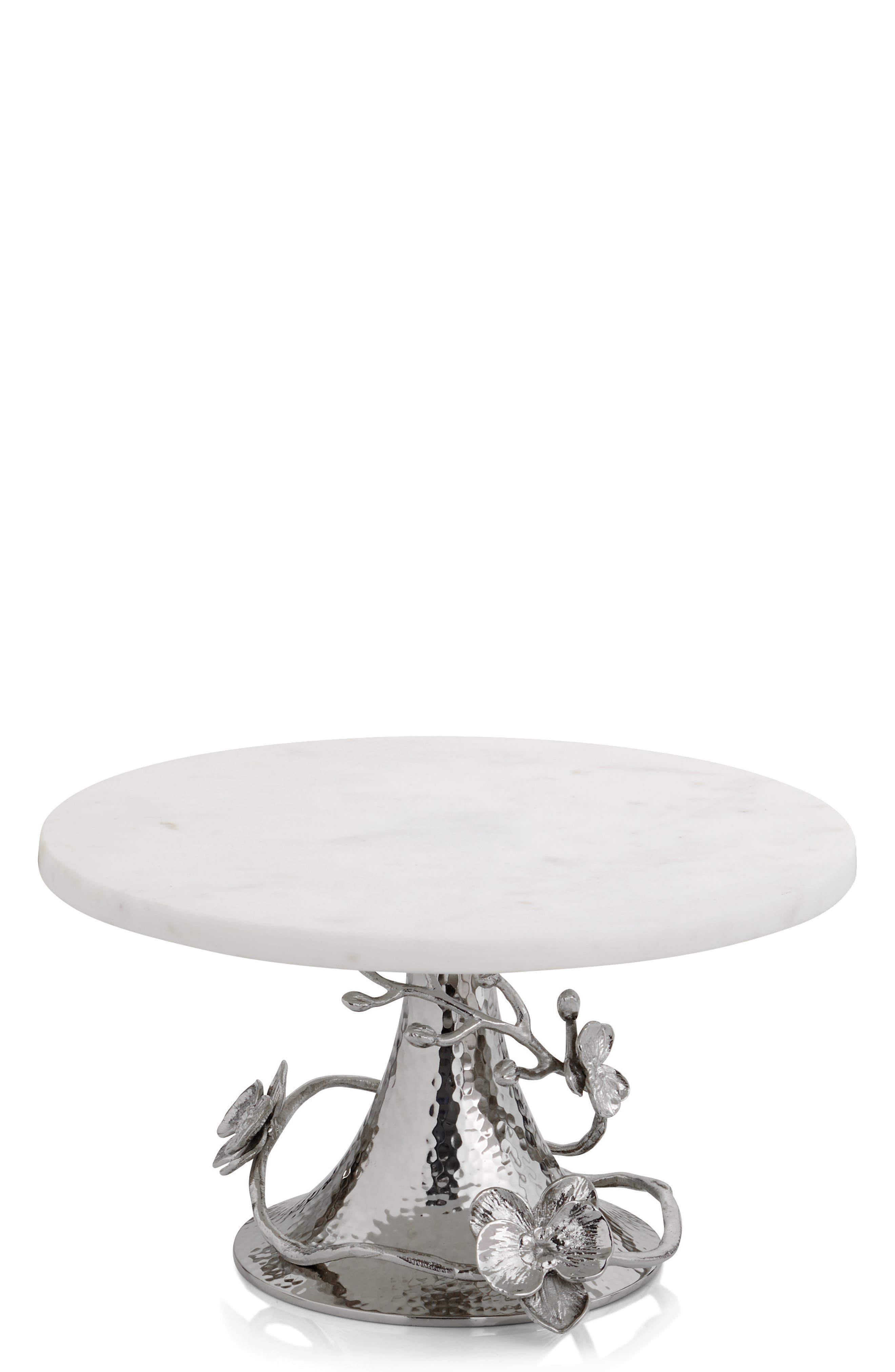 White Orchid Cake Stand,                         Main,                         color, No Color