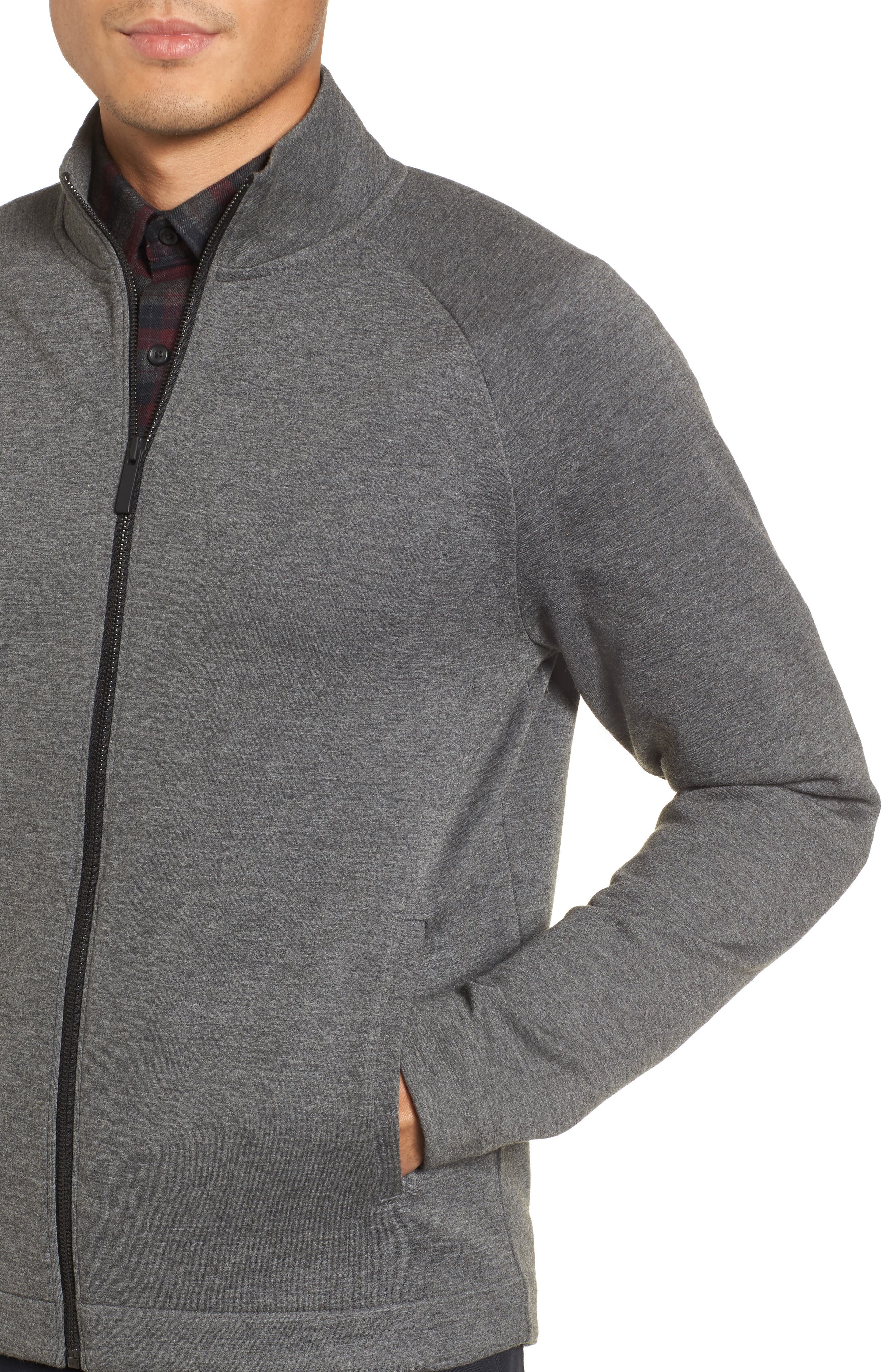 Fleece Jacket,                             Alternate thumbnail 4, color,                             Grey Magnet Heather