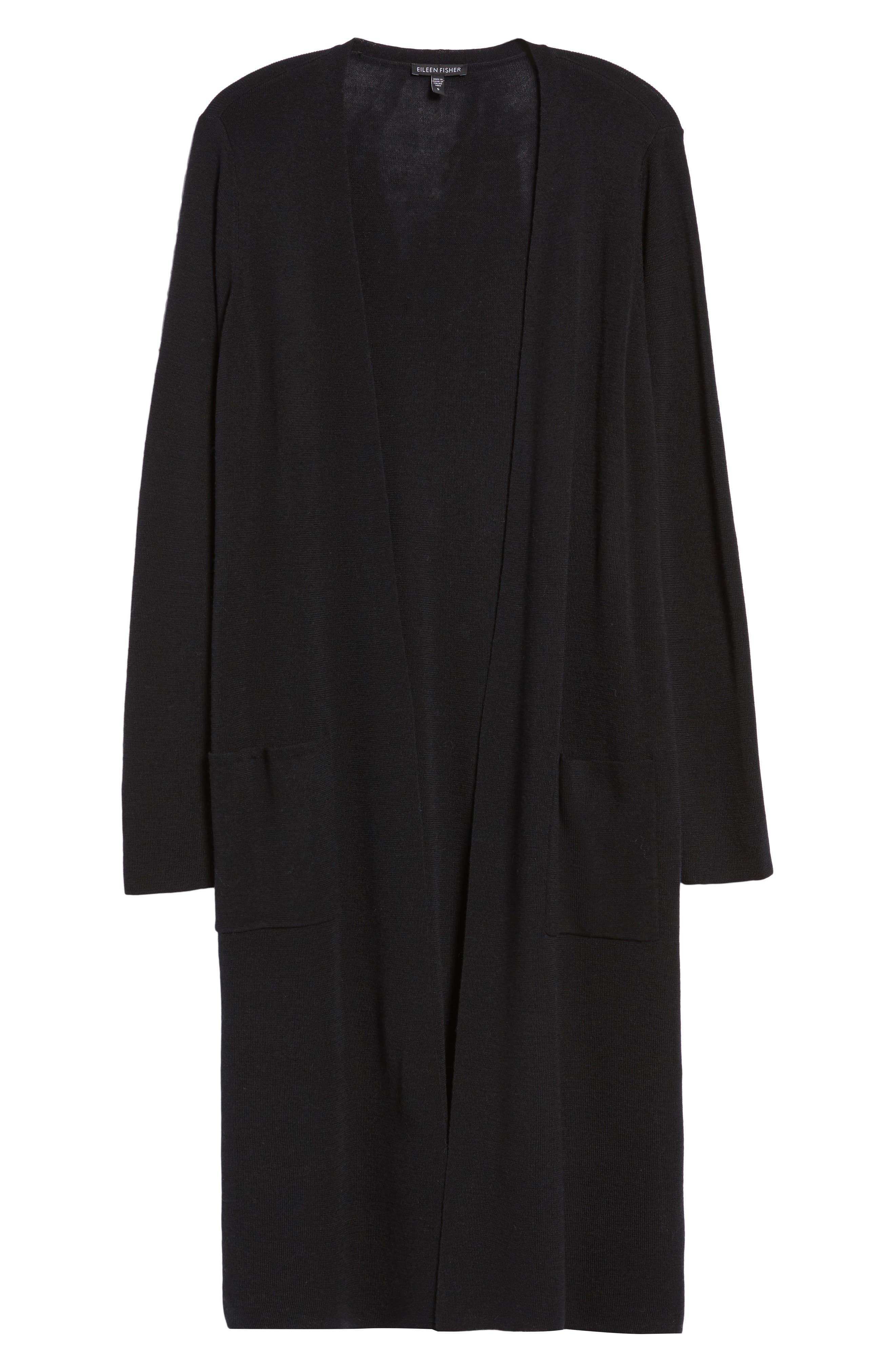 Alternate Image 6  - Eileen Fisher Long Merino Wool Cardigan (Regular & Petite)