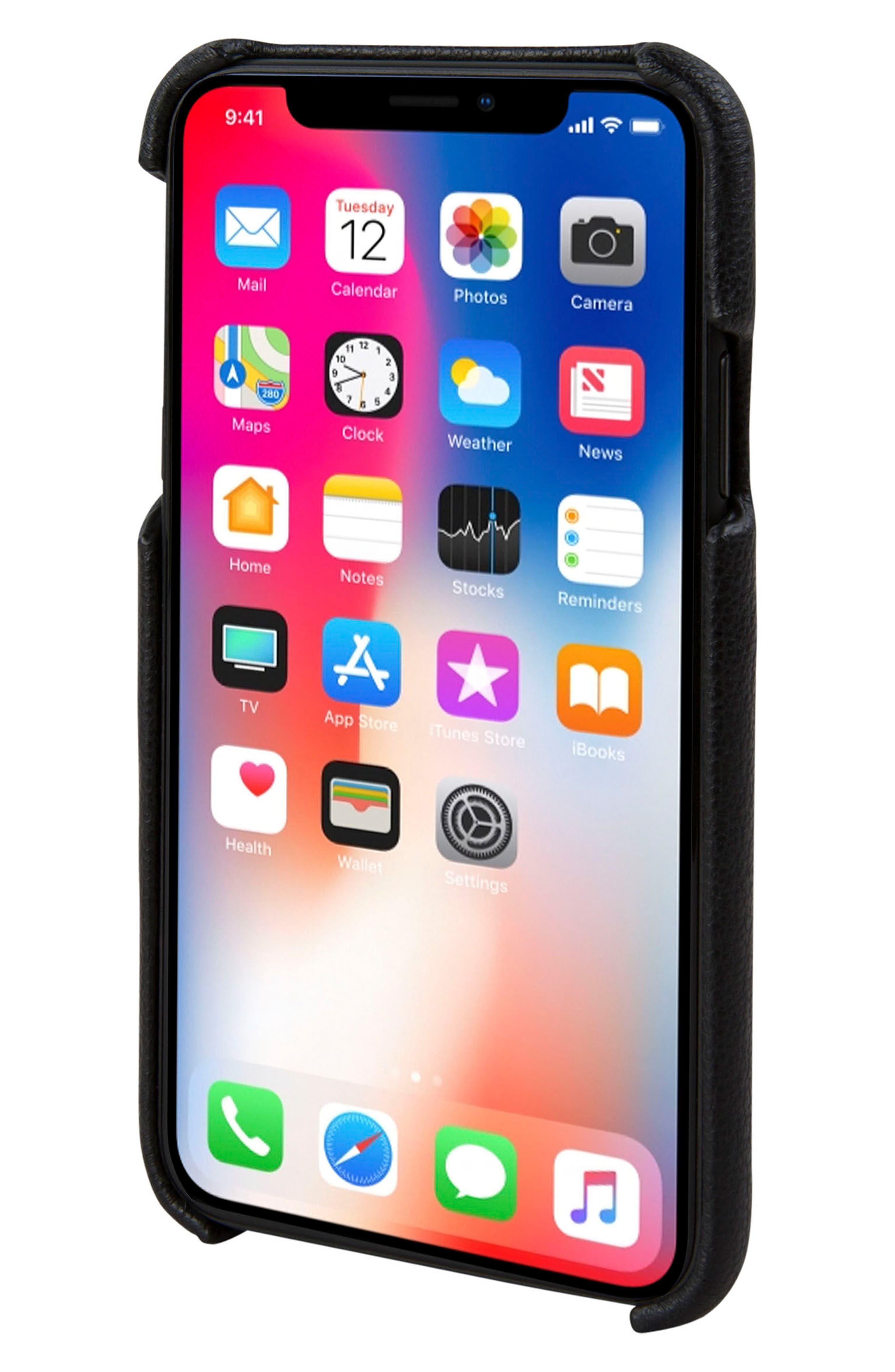 Solo iPhone X Wallet Case,                             Alternate thumbnail 4, color,                             Black