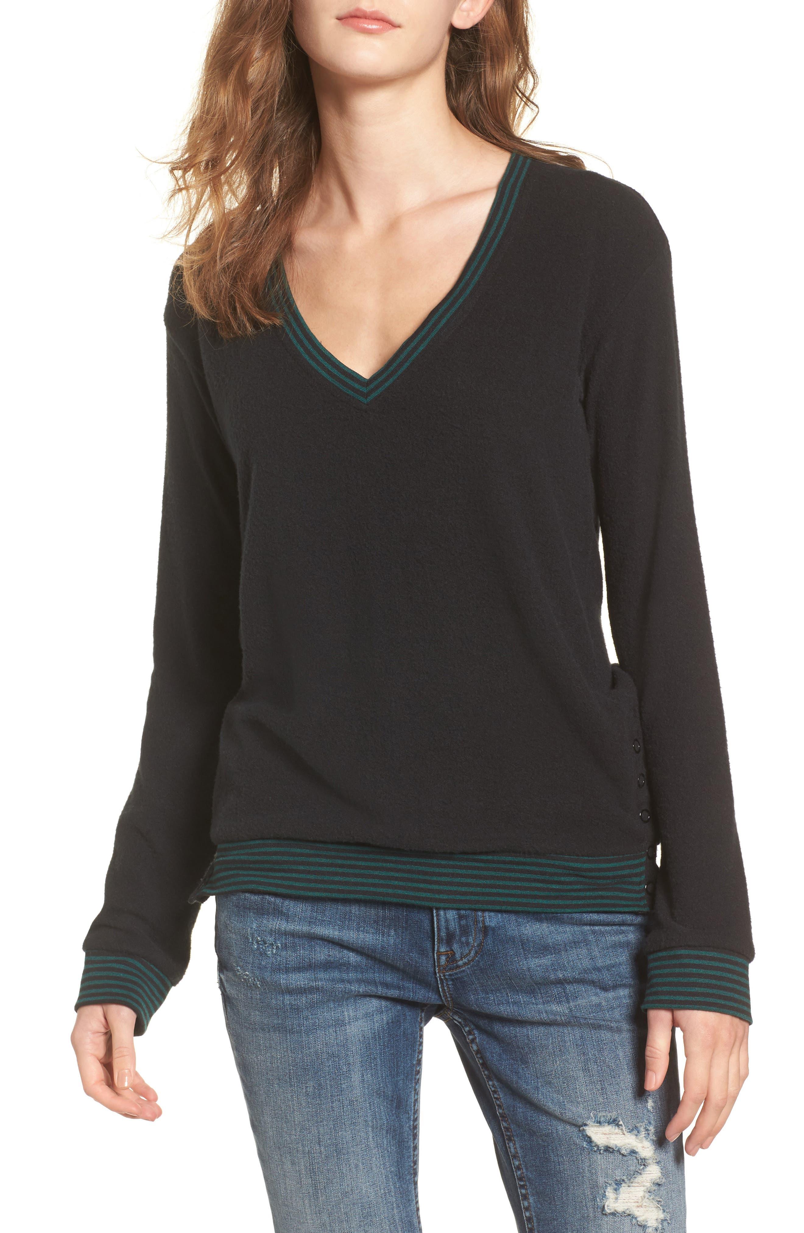 RVCA Neuvo Snap Hem Sweater