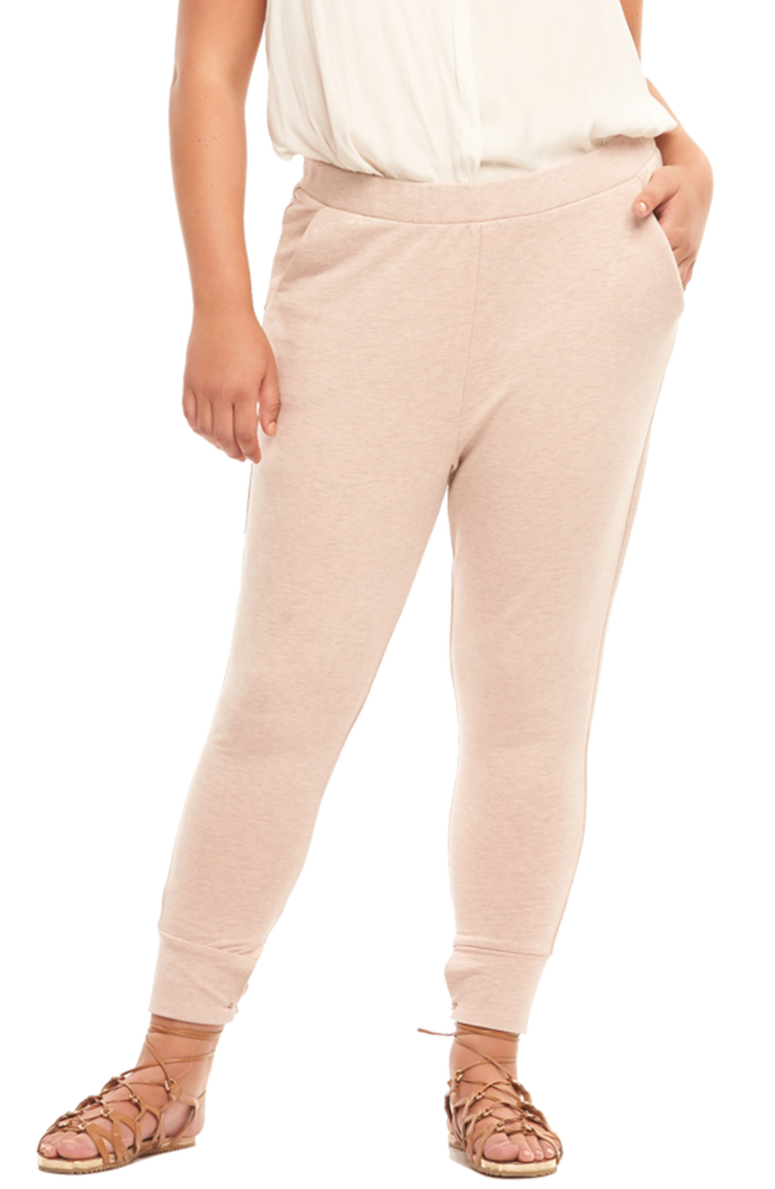 Zadie Jogger Pants,                             Alternate thumbnail 2, color,                             Blush With Rose