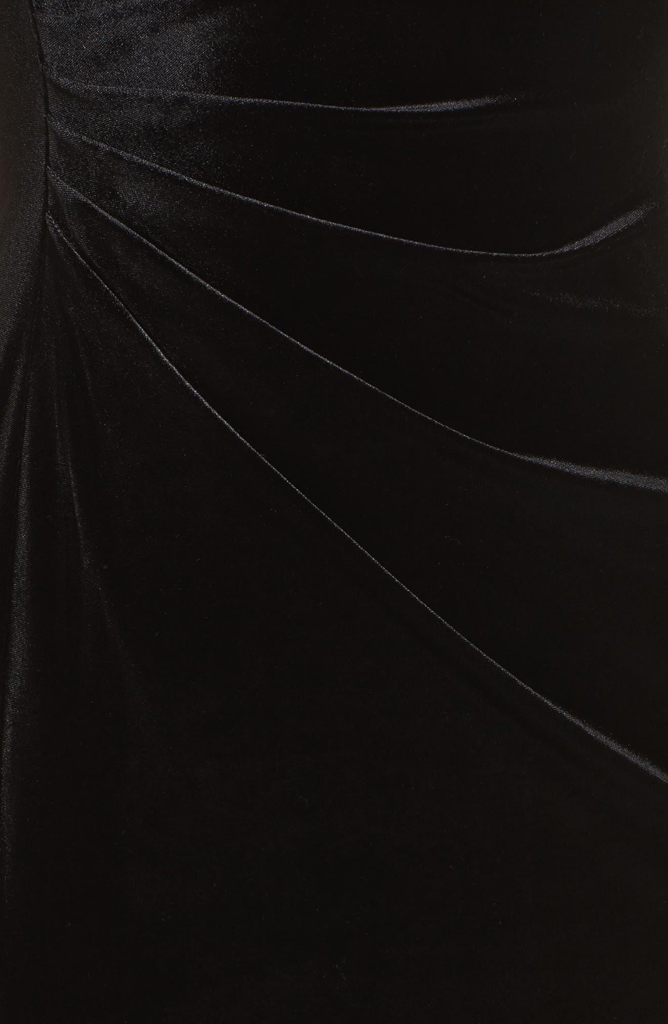 Alternate Image 5  - Vince Camuto Plunging Side Drape Velvet Gown