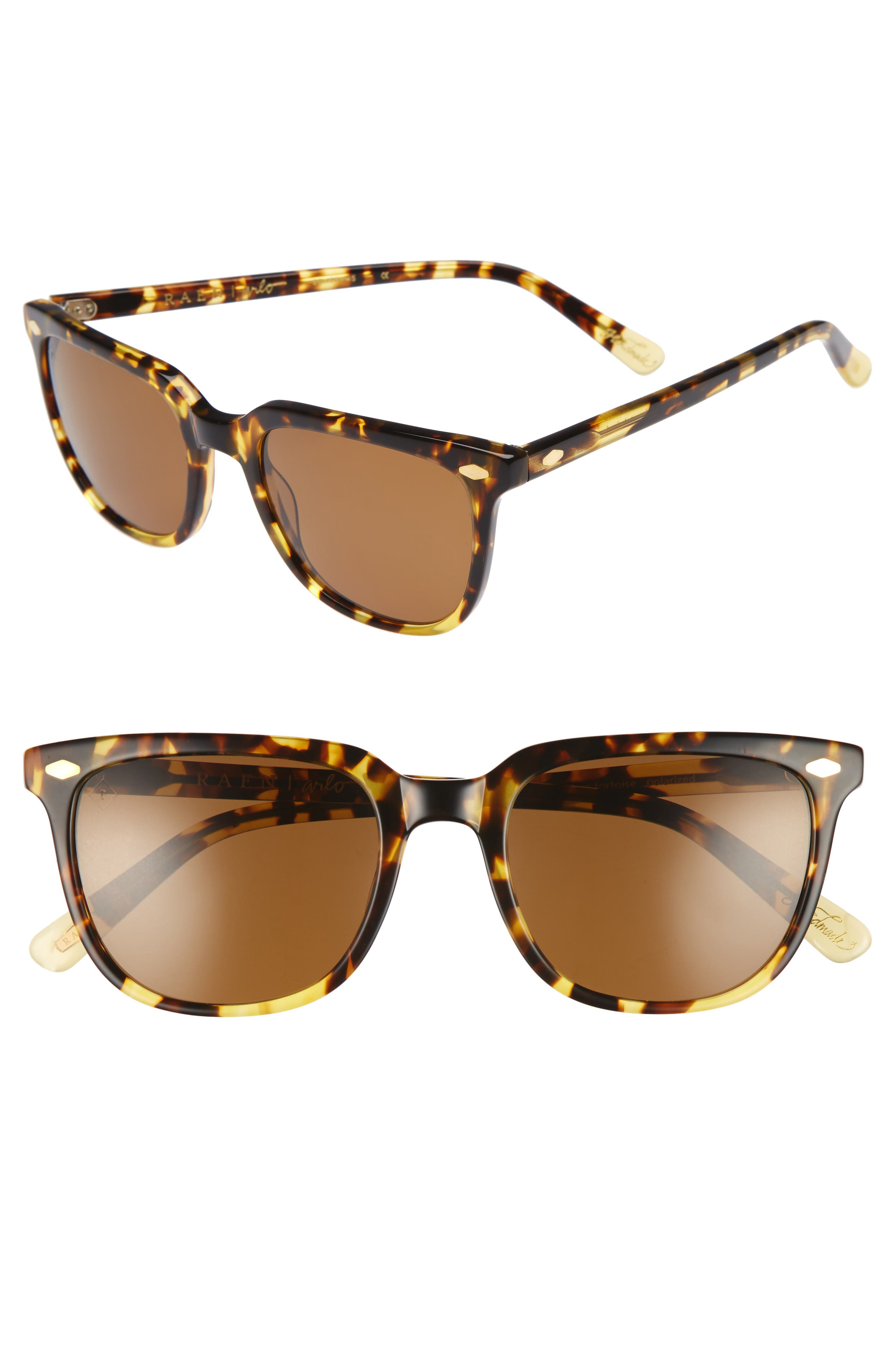 Arlo 53mm Polarized Sunglasses,                         Main,                         color, Tokyo Tortoise/ Brown