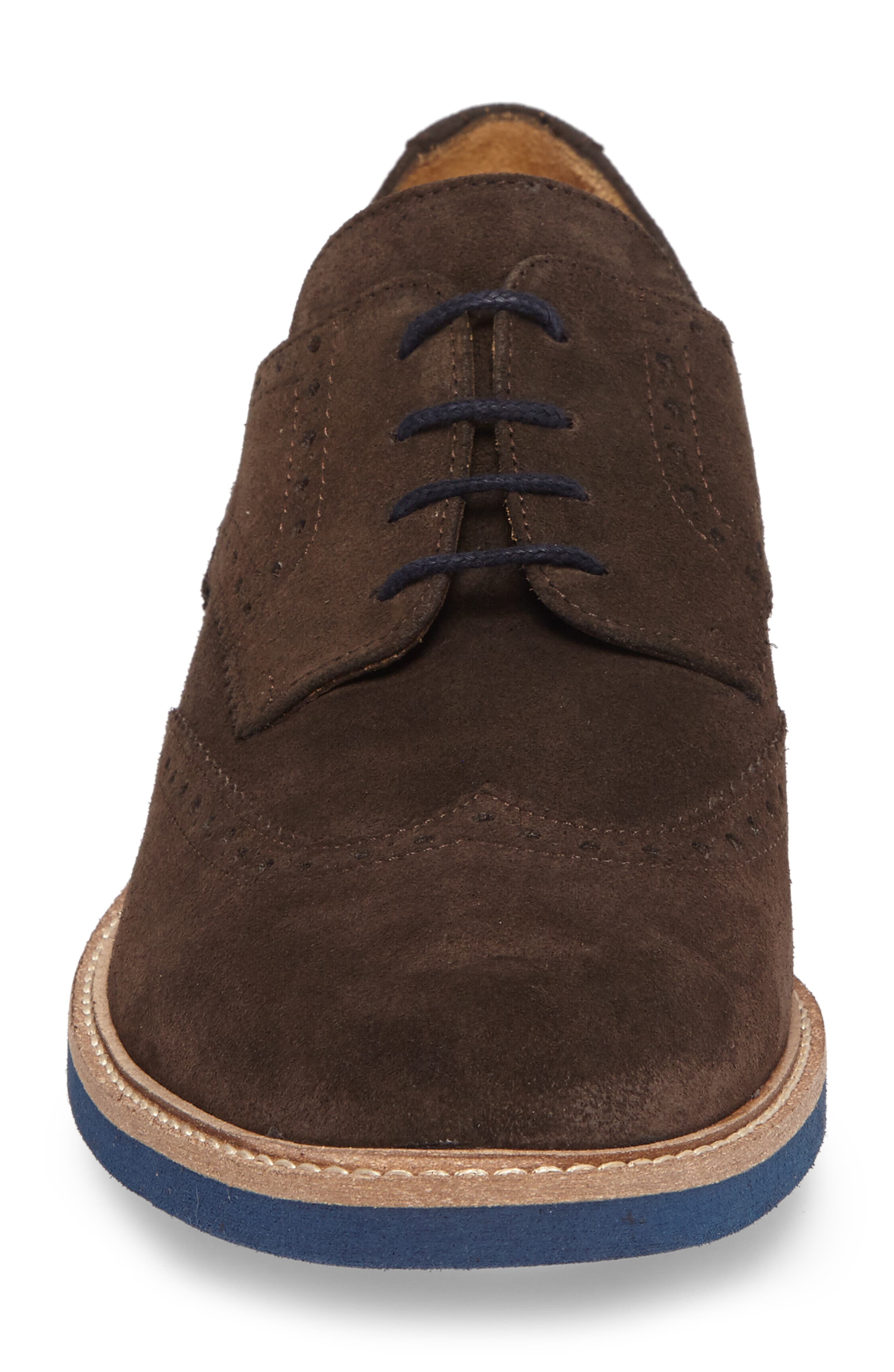 Southports Wingtip,                             Alternate thumbnail 4, color,                             Brown Suede