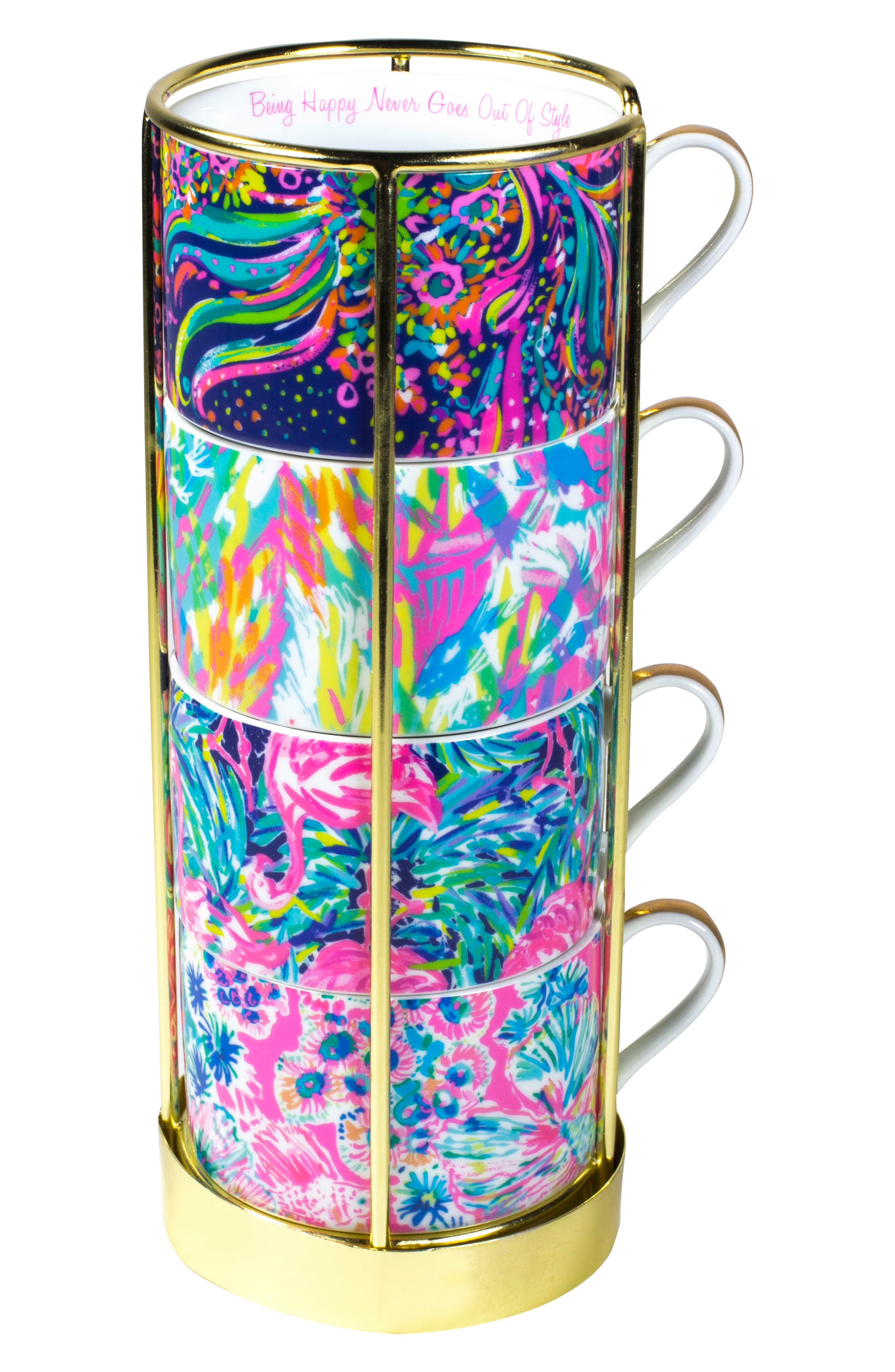 Lilly Pulitzer® Set of 4 Cappuccino Mugs