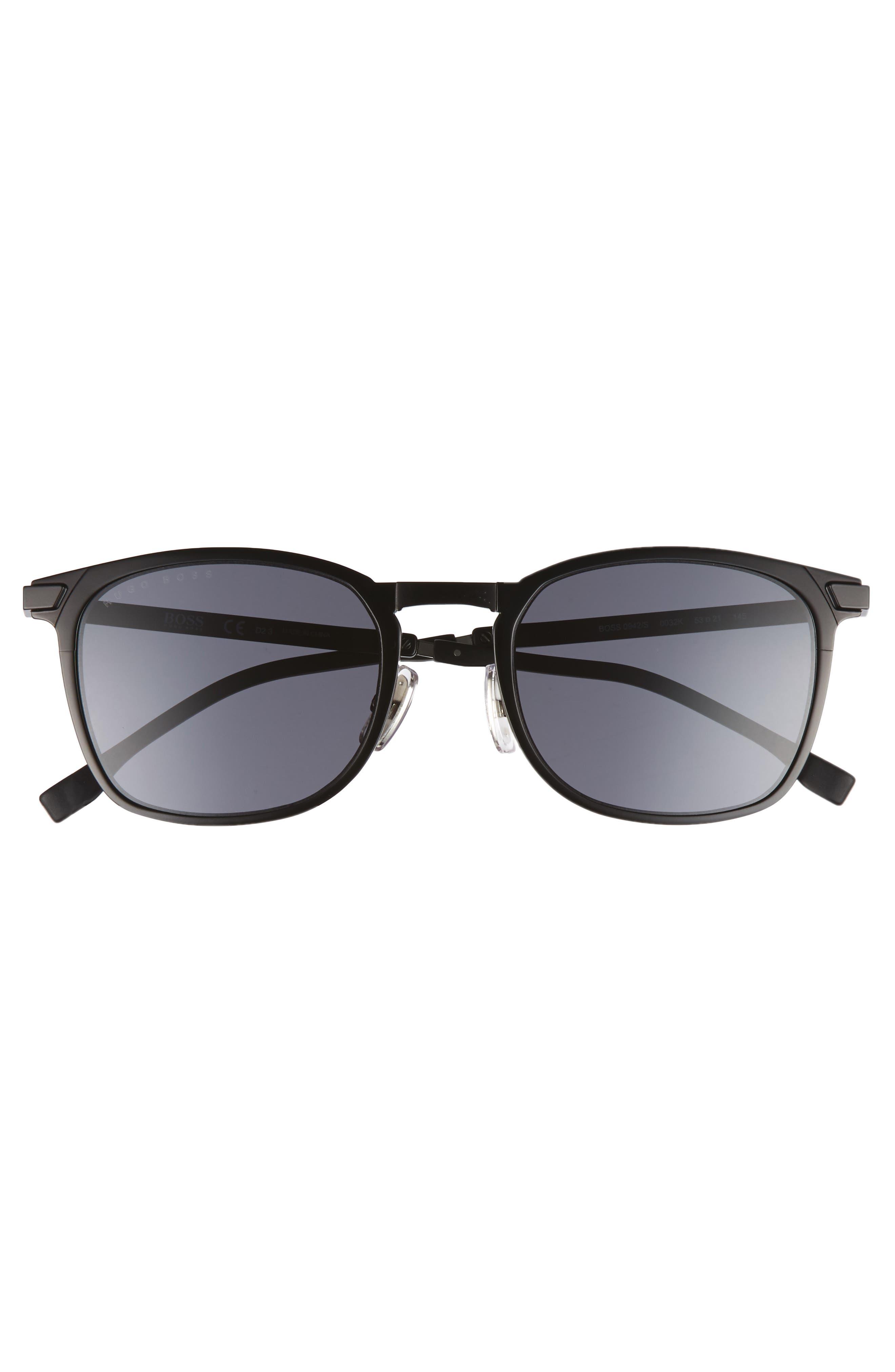 53mm Sunglasses,                             Alternate thumbnail 2, color,                             Matte Black/ Gray