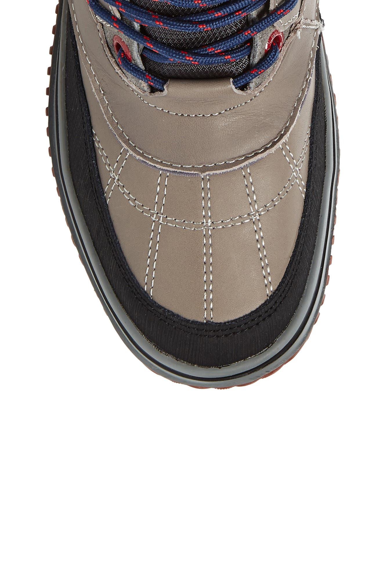 Gaspar Waterproof Winter Boot,                             Alternate thumbnail 5, color,                             Grey Leather
