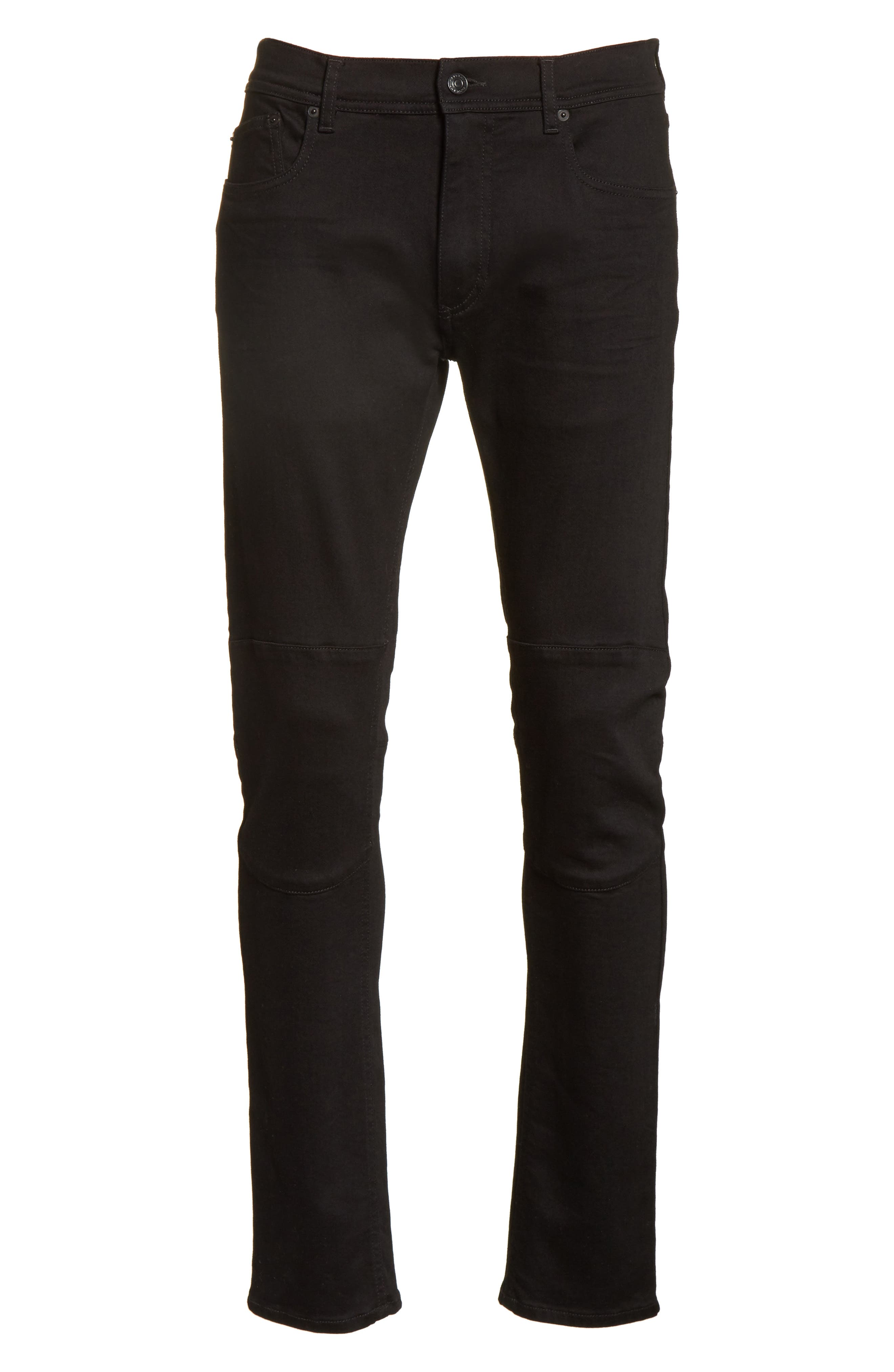 Tattenhall Slim Fit Jeans,                             Alternate thumbnail 6, color,                             Rinse Black