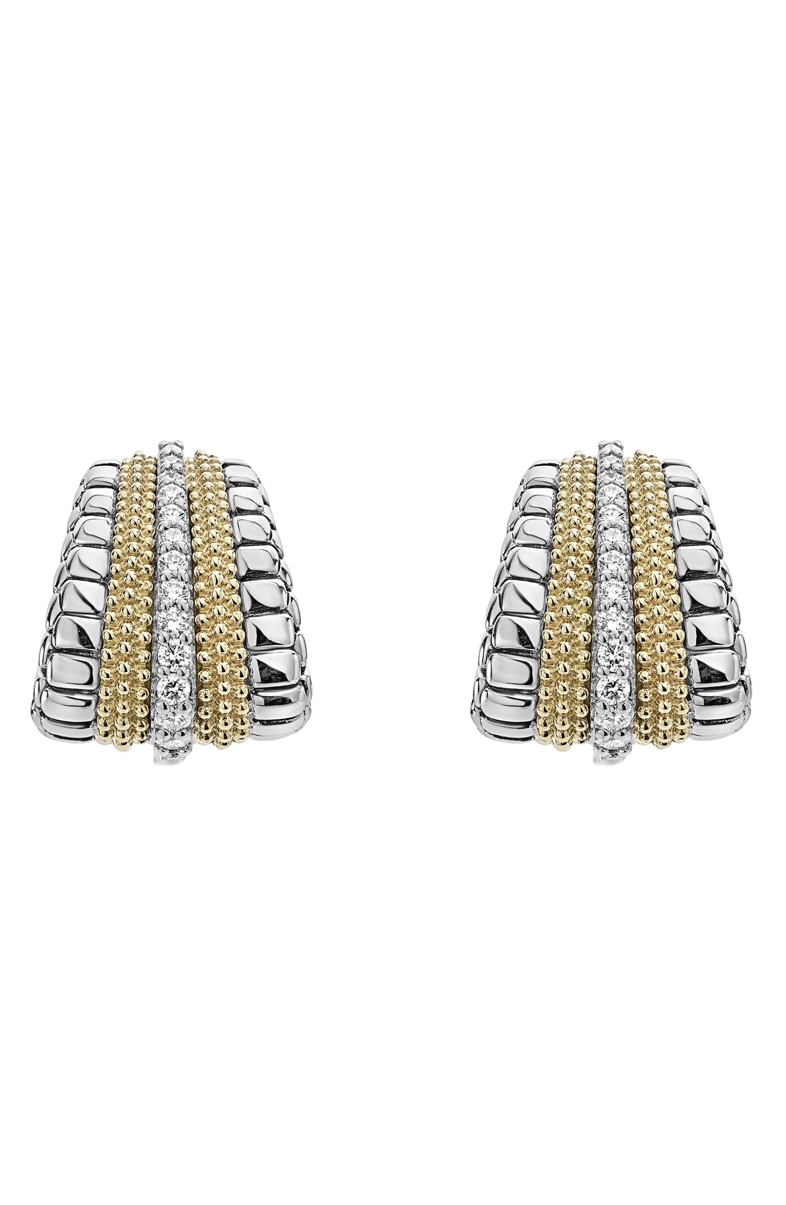 Diamond Lux Graduated Stud Earrings,                             Main thumbnail 1, color,                             Diamond