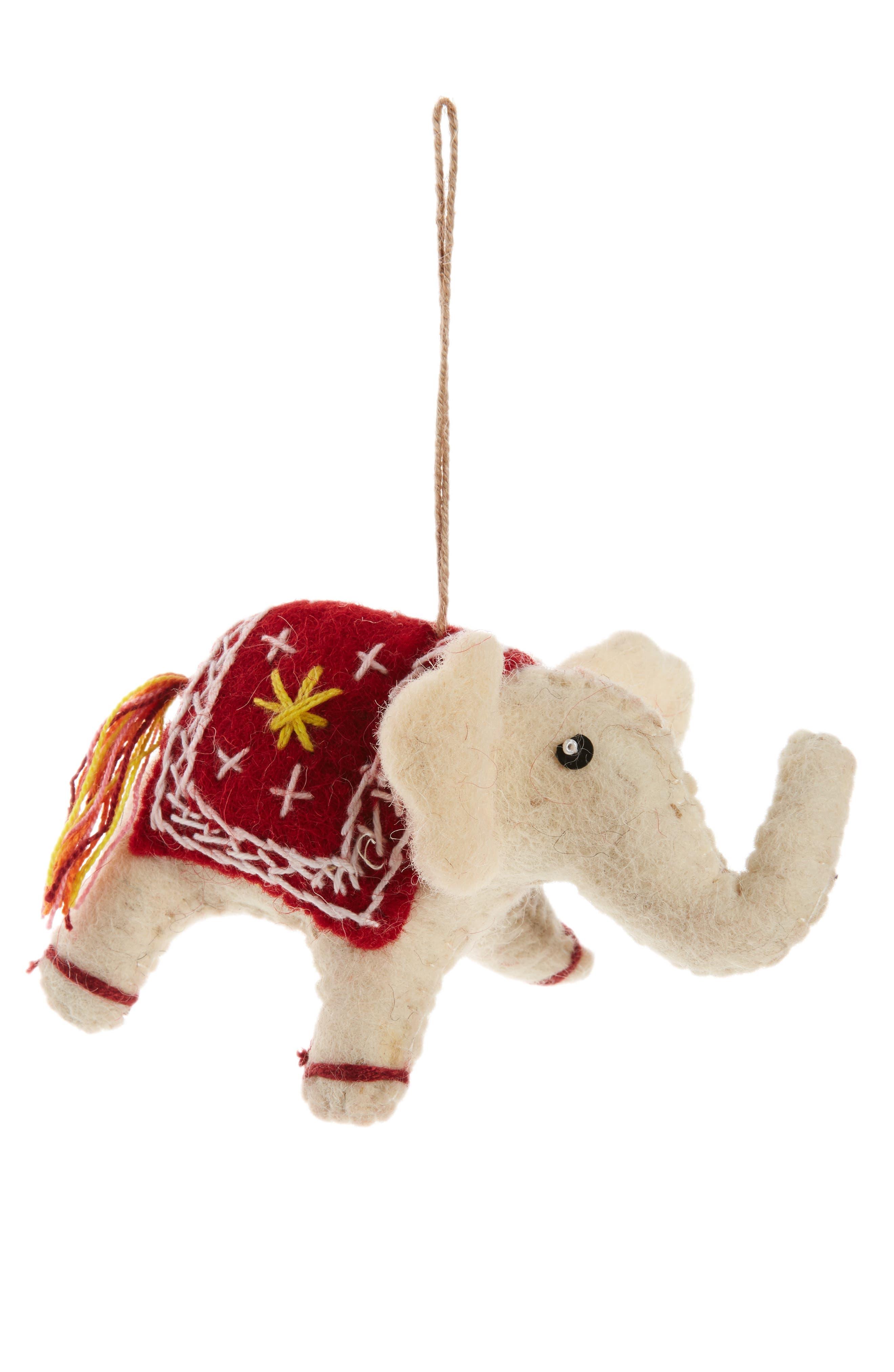 Nordstrom at Home Elephant Felt Ornament