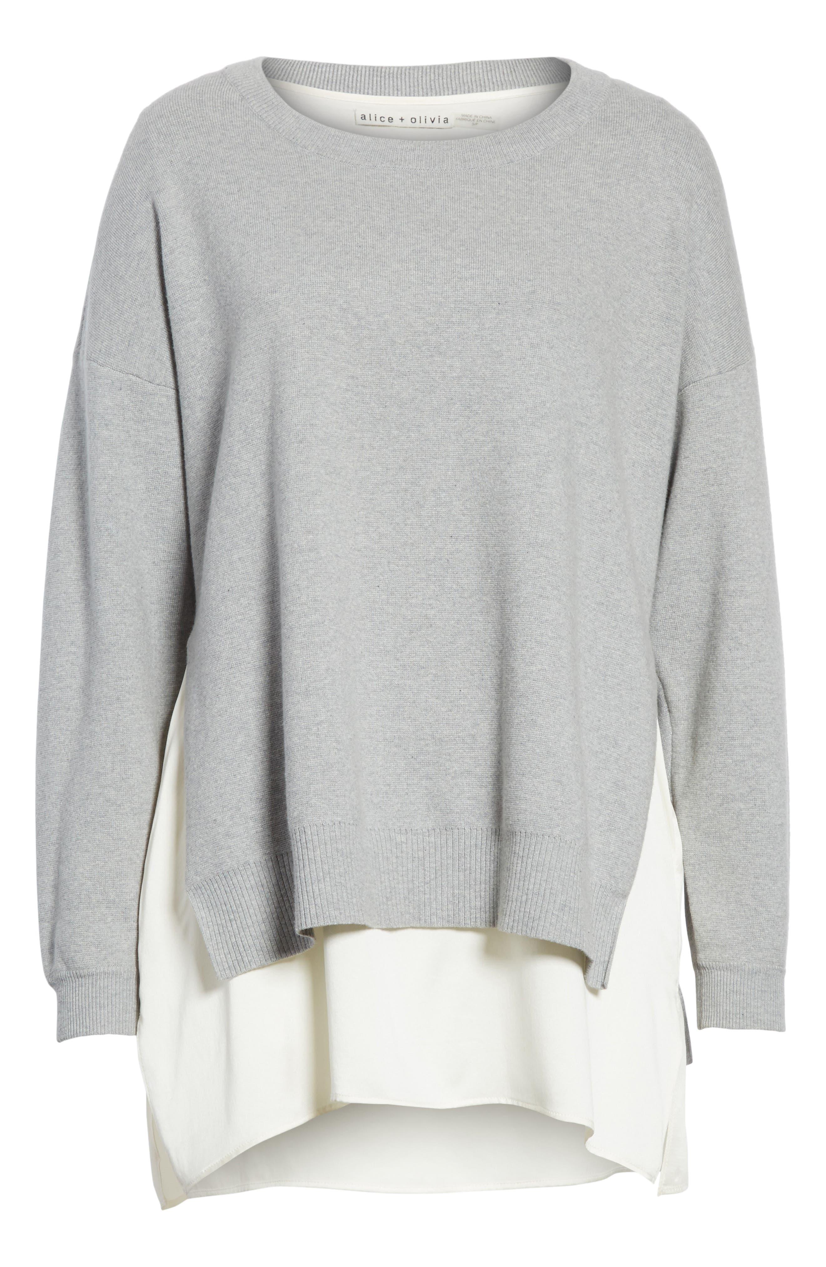 Alternate Image 6  - Alice + Olivia Eldridge Side Slit Undershirt Tunic