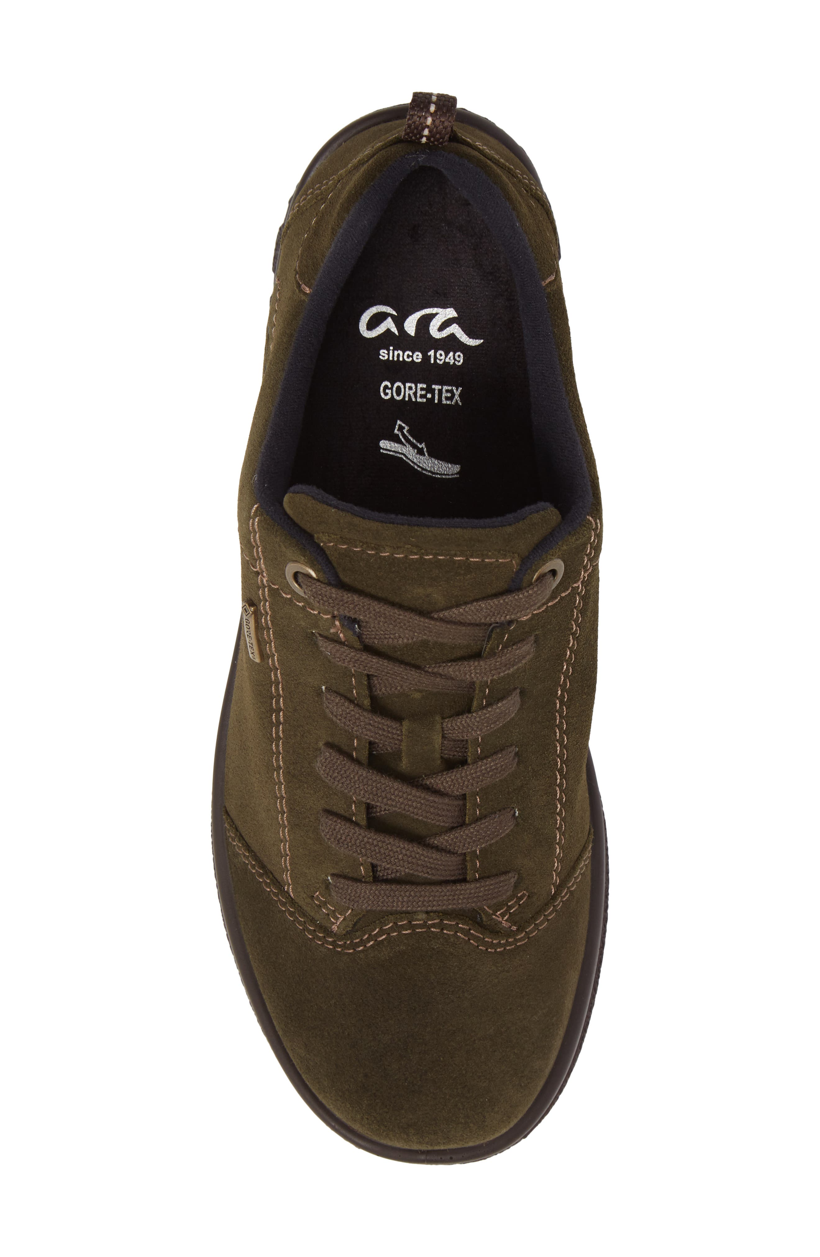 Sophie Gore-Tex<sup>®</sup> Sneaker,                             Alternate thumbnail 5, color,                             Pine Suede