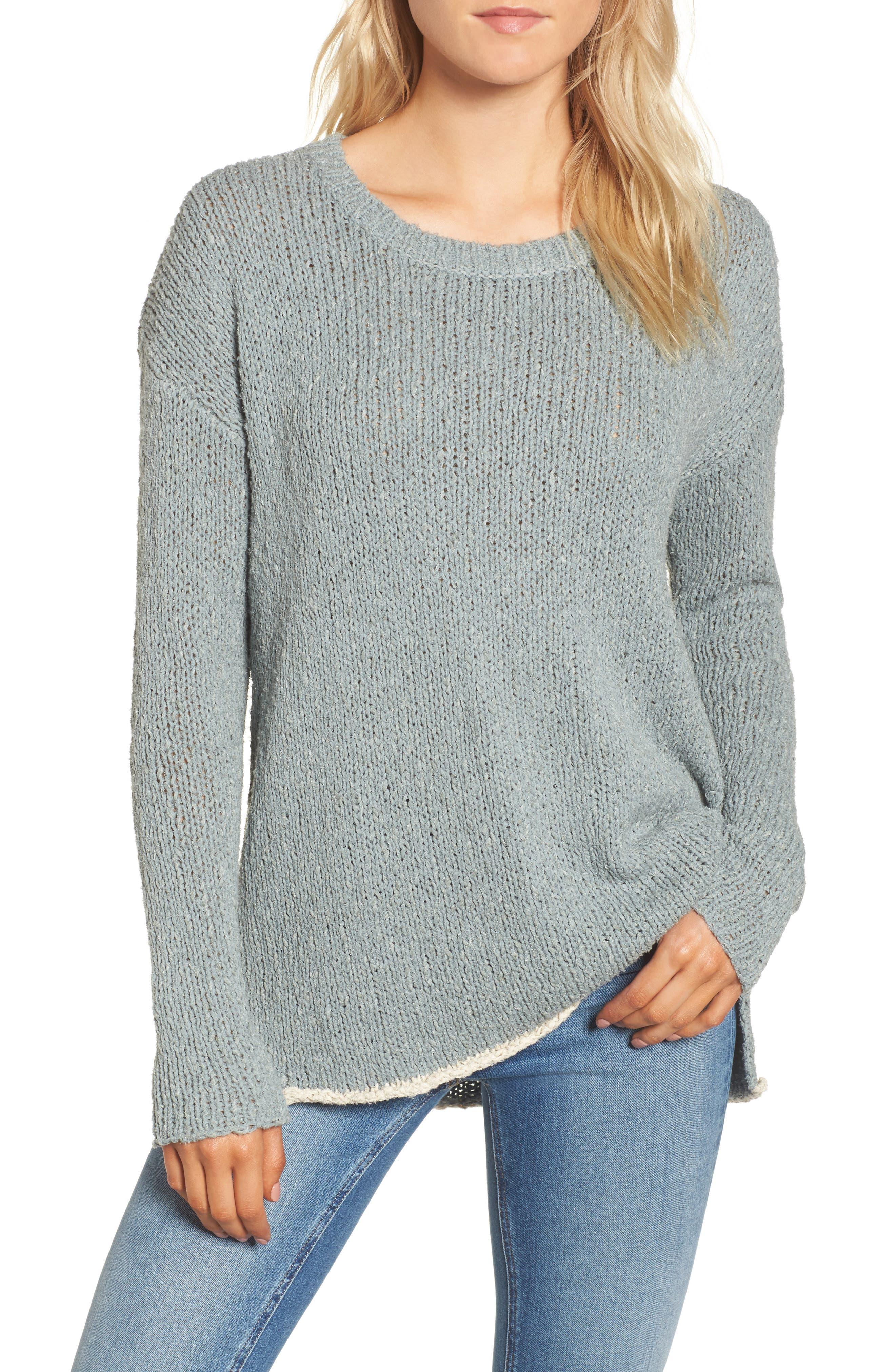 Oversize Sweater,                         Main,                         color, Dusty North