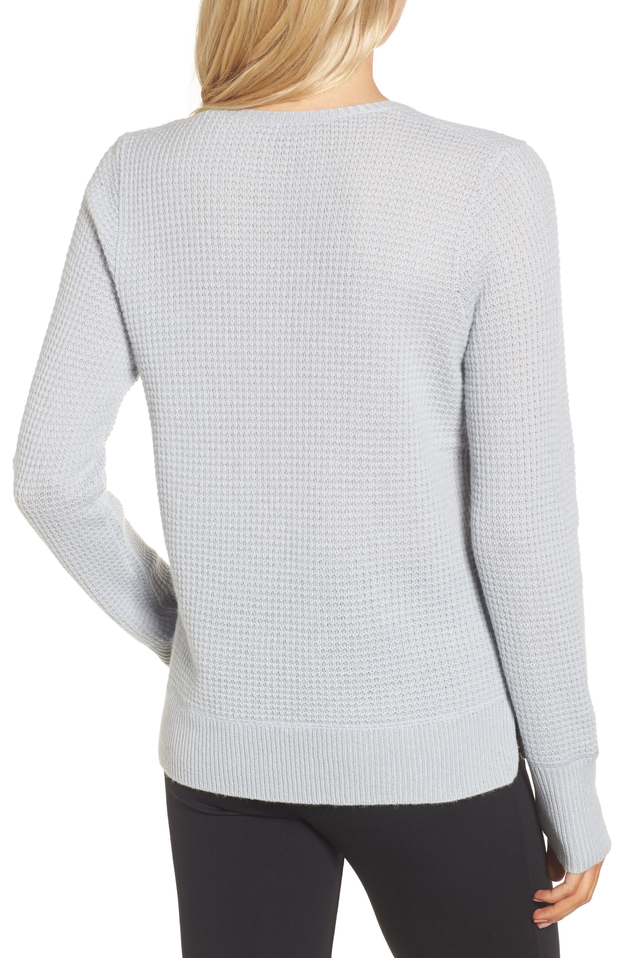 Alternate Image 2  - James Perse Cashmere Thermal Sweater
