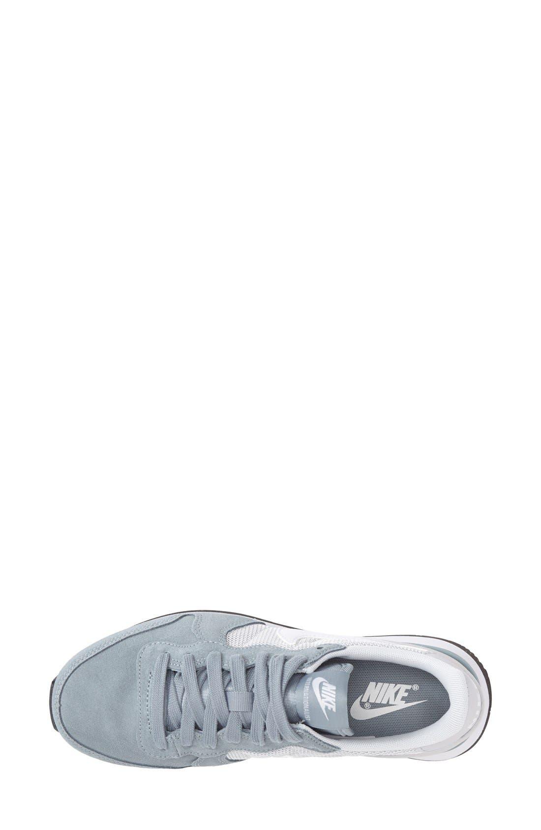 'Internationalist' Sneaker,                             Alternate thumbnail 3, color,                             Grey/ Platinum/ Black