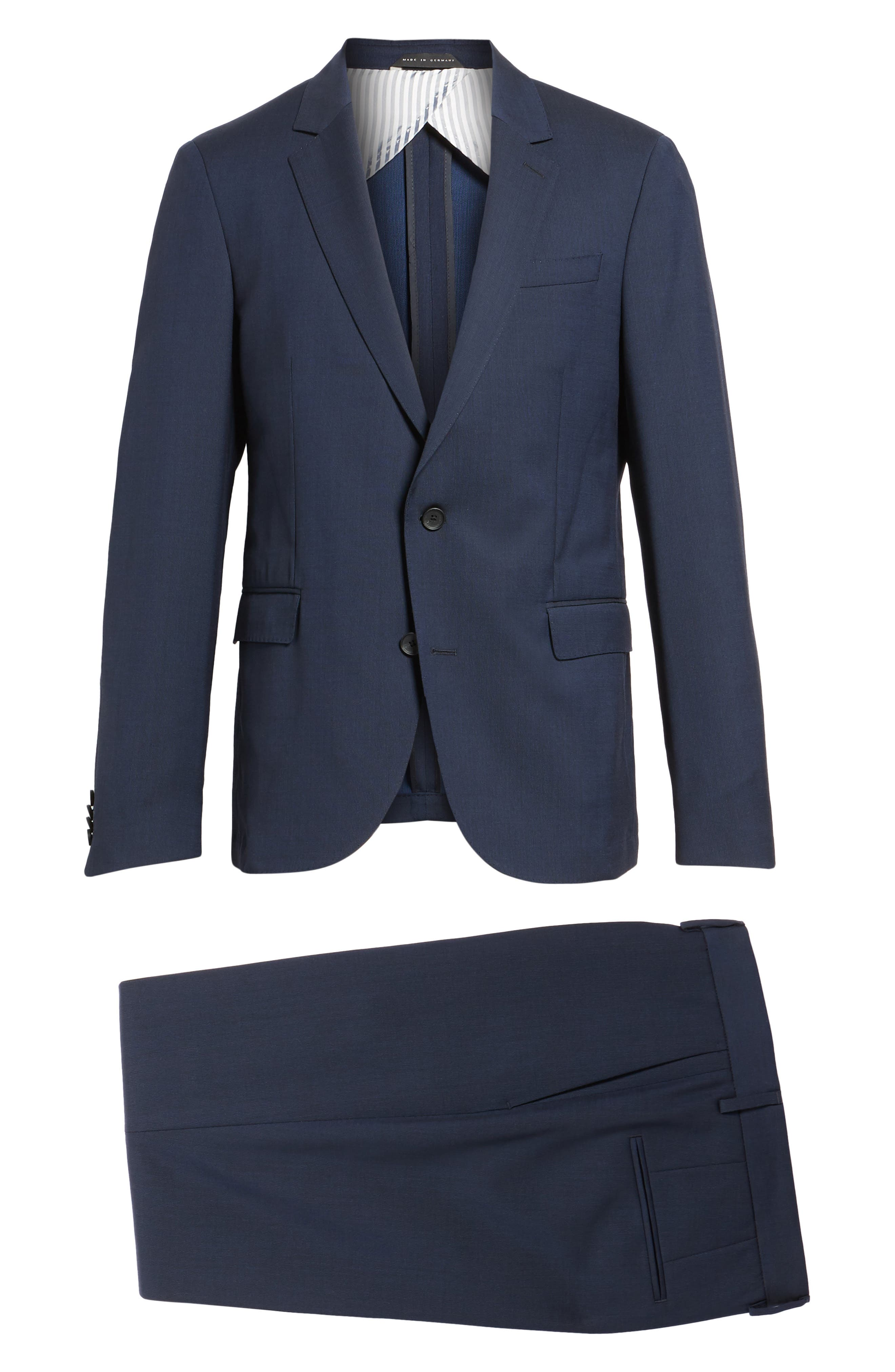 Nylen/Perry Trim Fit Solid Wool Suit,                             Alternate thumbnail 8, color,                             Navy