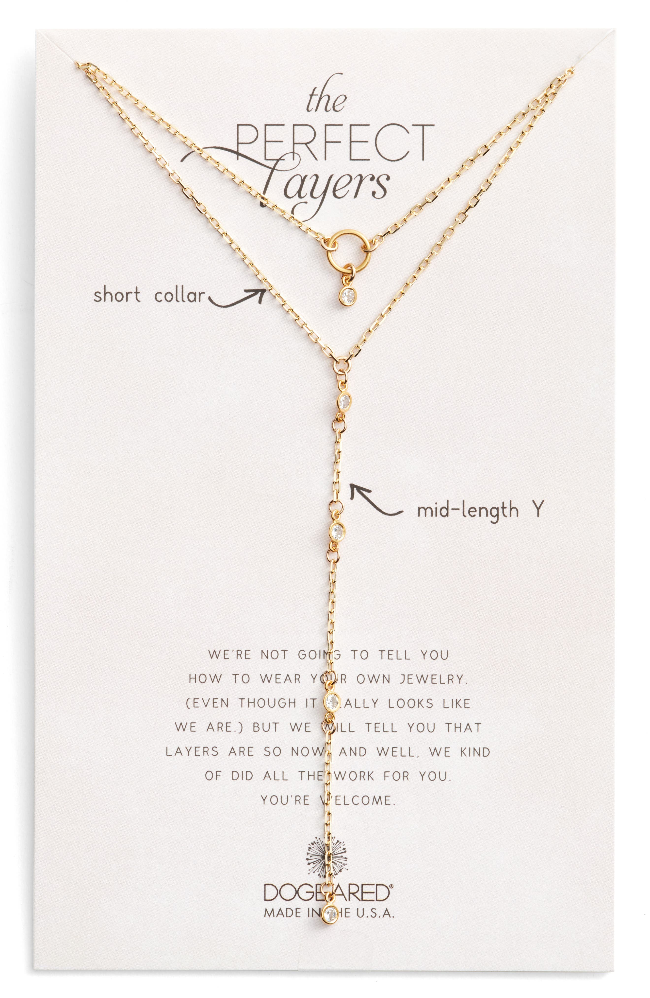 Dogeared Perfect Layers Choker & Y-Necklace