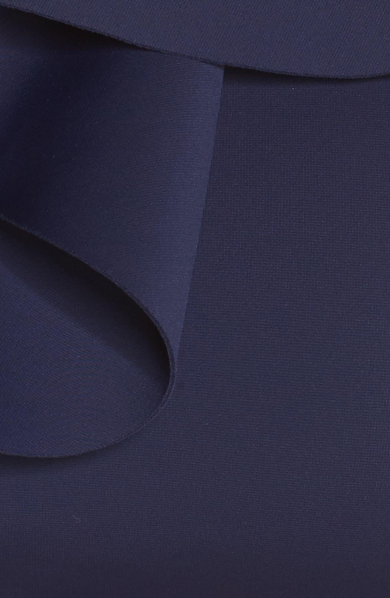 Ruffle Bikini Top,                             Alternate thumbnail 5, color,                             Navy