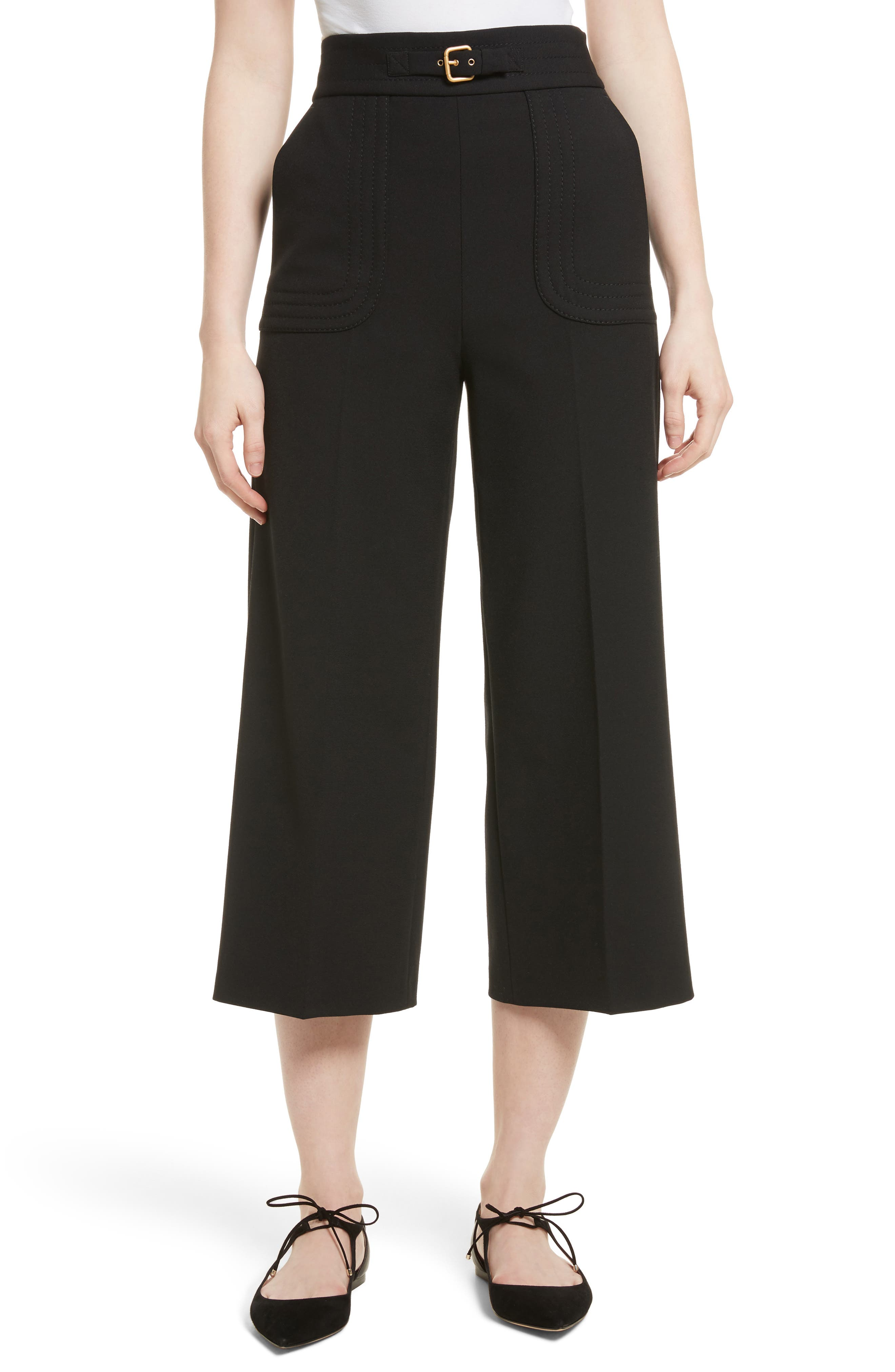 Main Image - RED Valentino Belt Detail Culottes