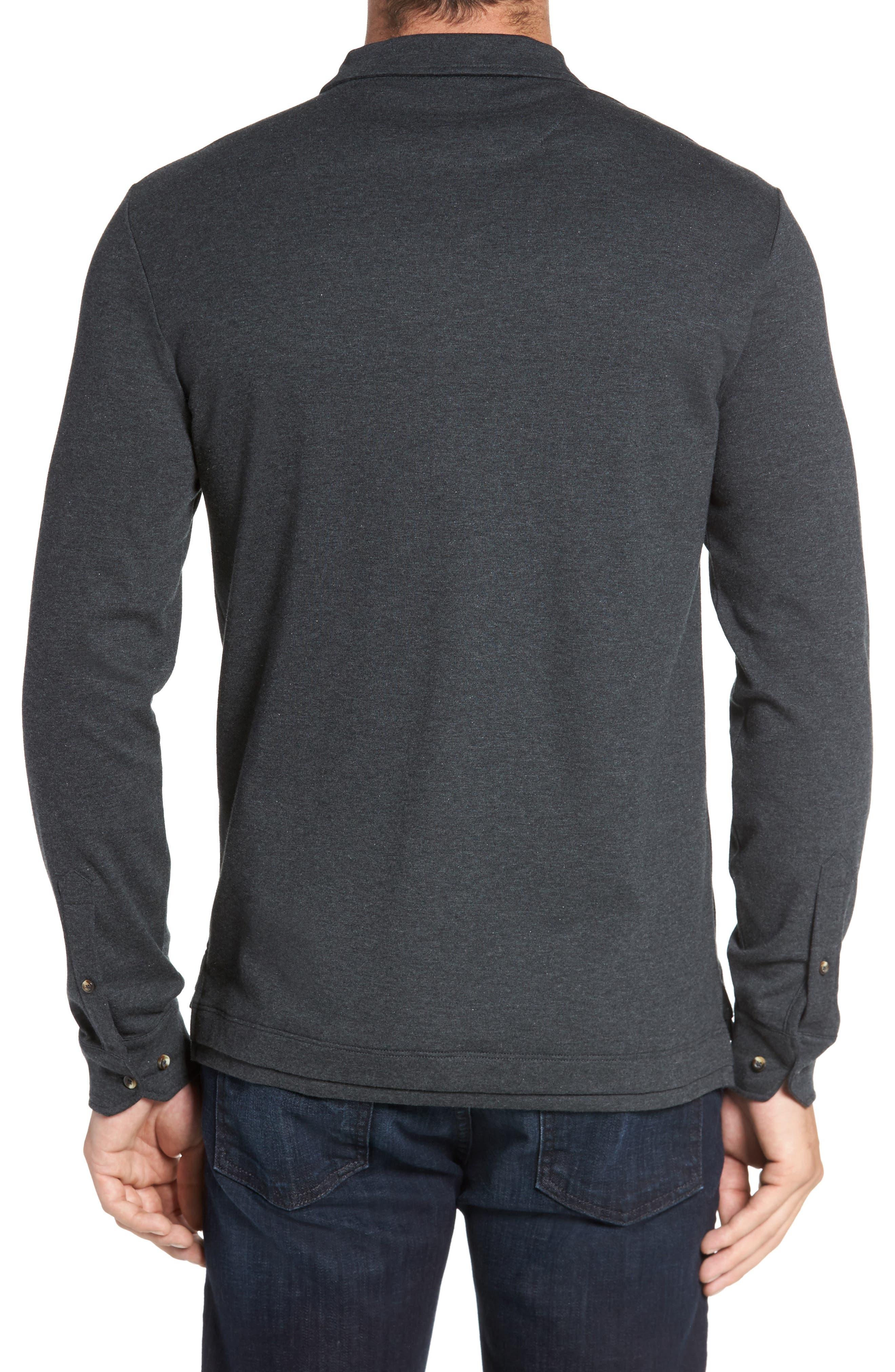 Alternate Image 2  - David Donahue Interlock Knit Sport Shirt