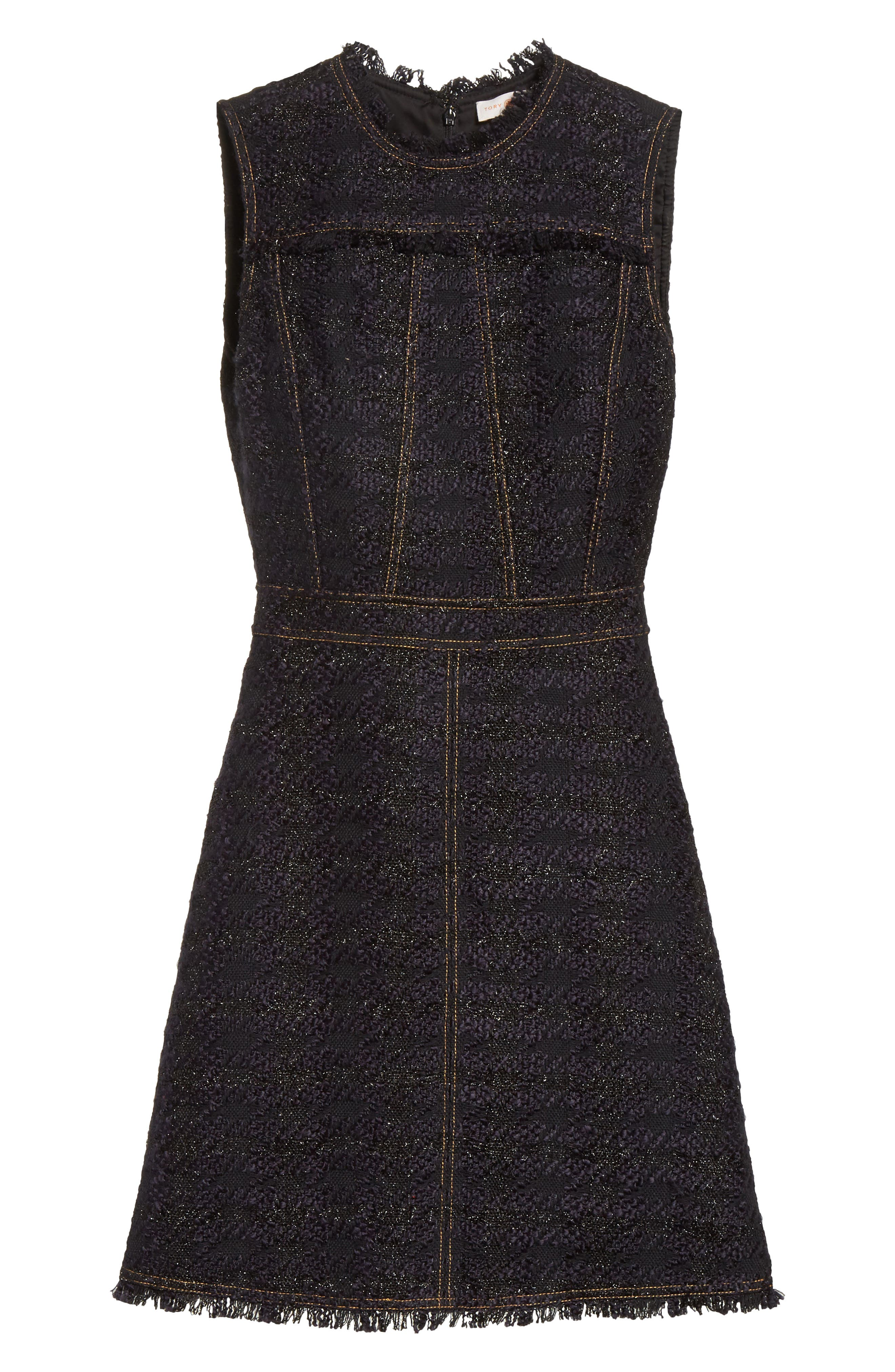 Alternate Image 6  - Tory Burch Aria Tweed Sheath Dress