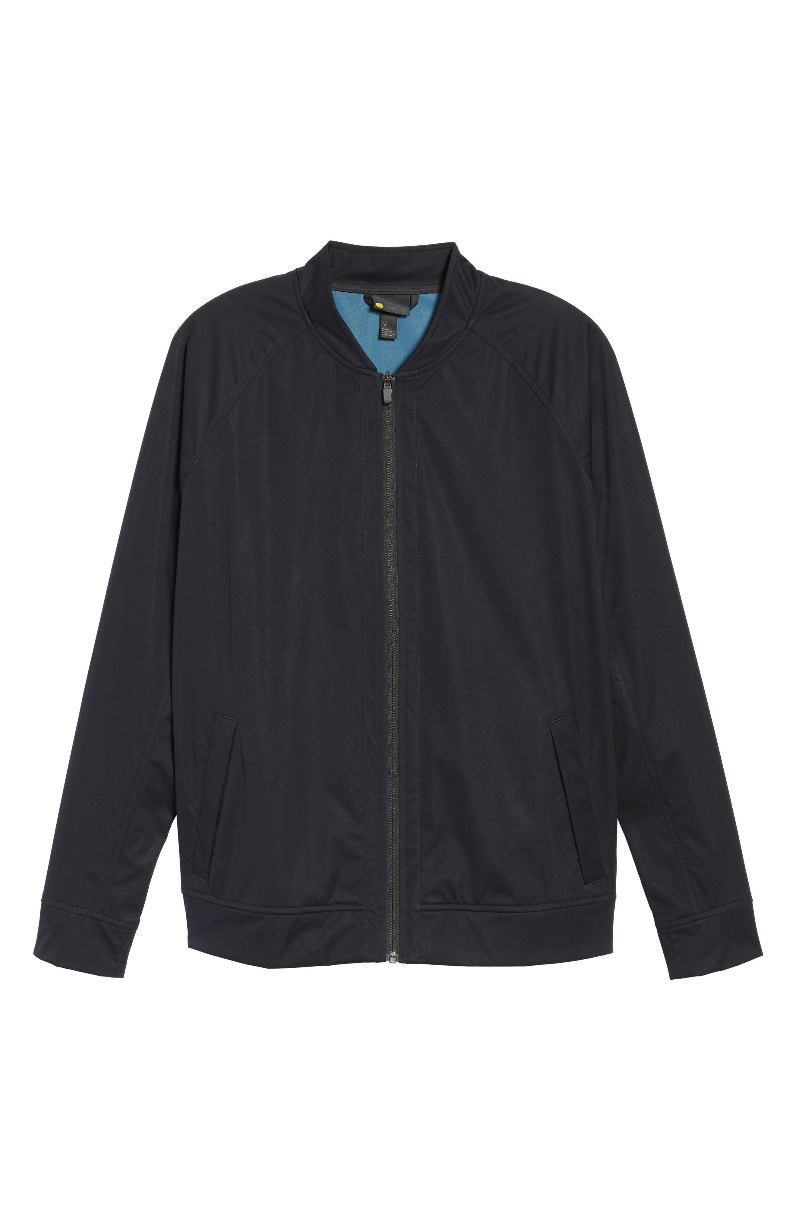 Softshell Bomber Jacket,                             Alternate thumbnail 6, color,                             Black