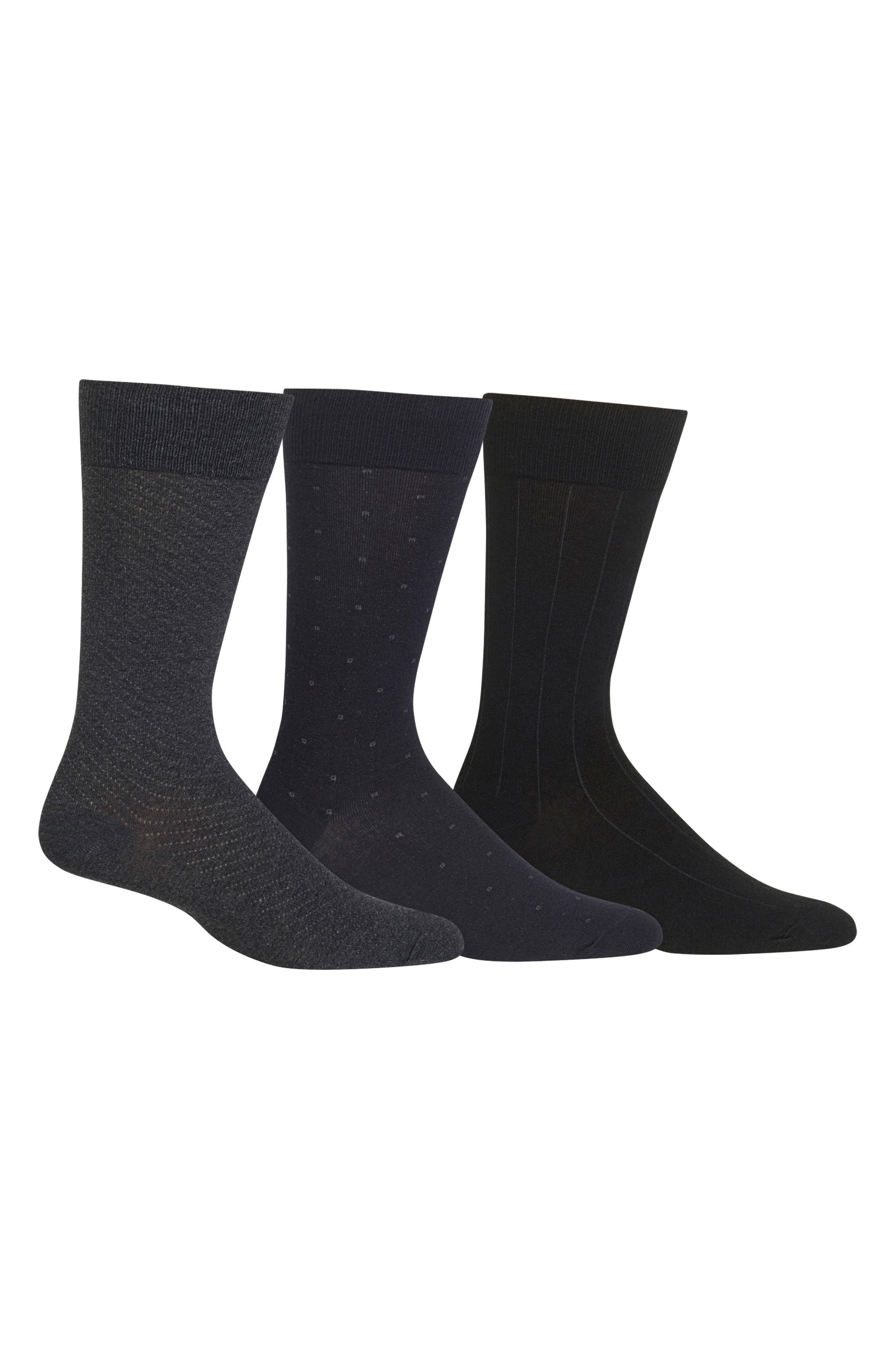 Dress Socks,                             Main thumbnail 1, color,                             Charcoal Heather/ Navy/ Black