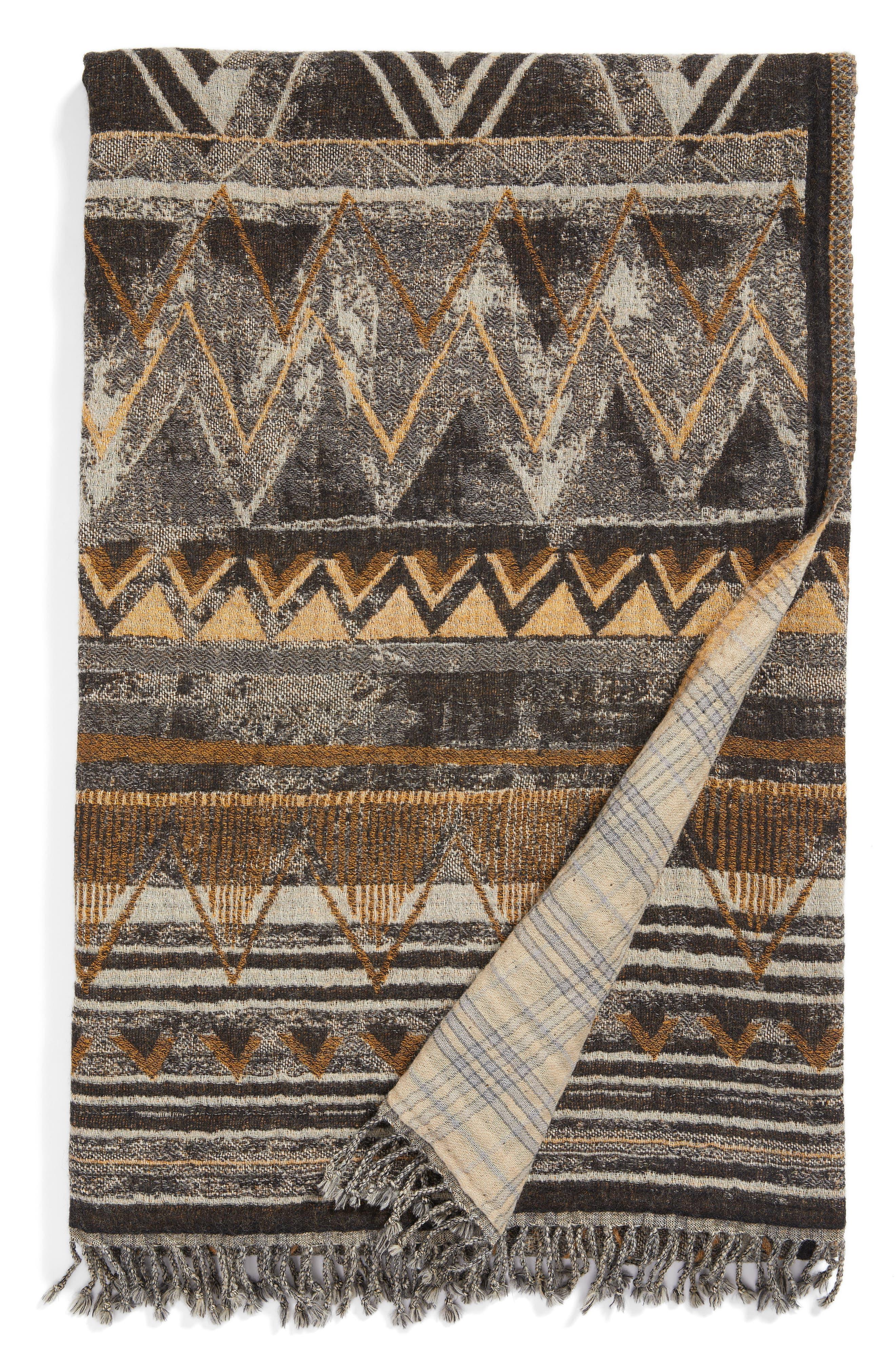 Main Image - Modern Staples Raffia Double Face Merino Wool Throw