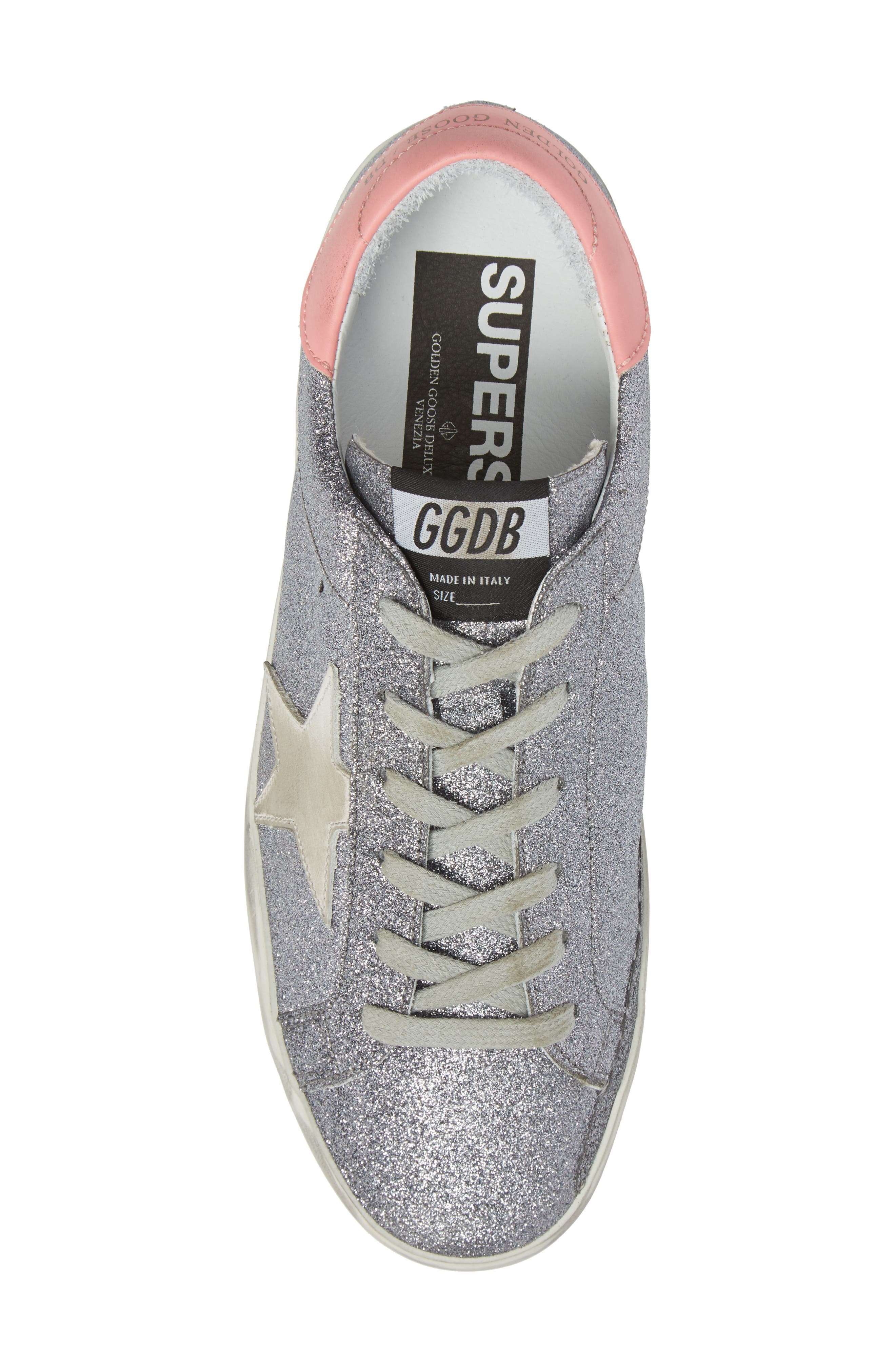 Superstar Low Top Sneaker,                             Alternate thumbnail 5, color,                             Gunmetal/ White