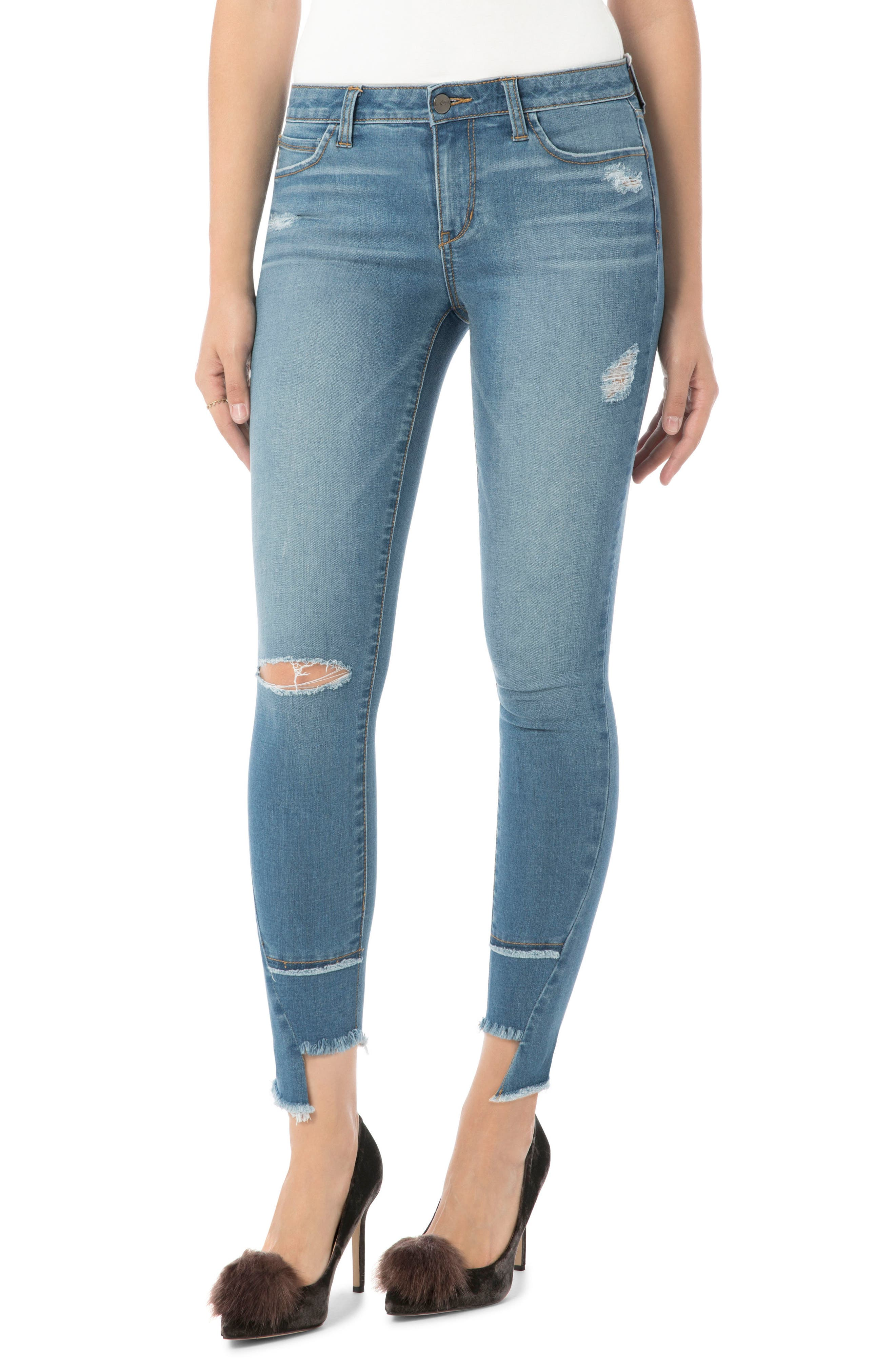 Ripped Kitten Jeans,                         Main,                         color, Anabella