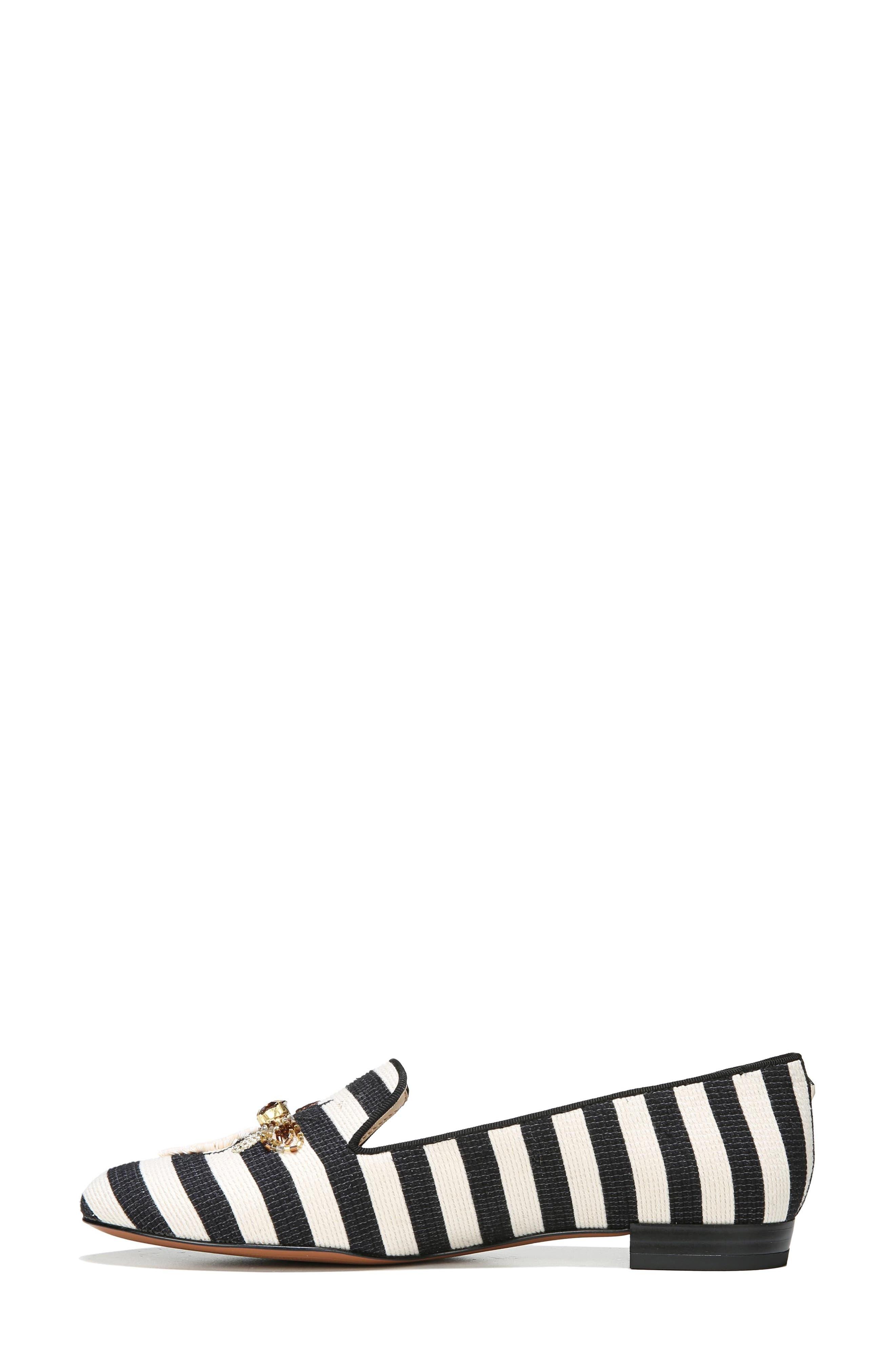 Jill Loafer,                             Alternate thumbnail 4, color,                             Ivory/ Black Stripe
