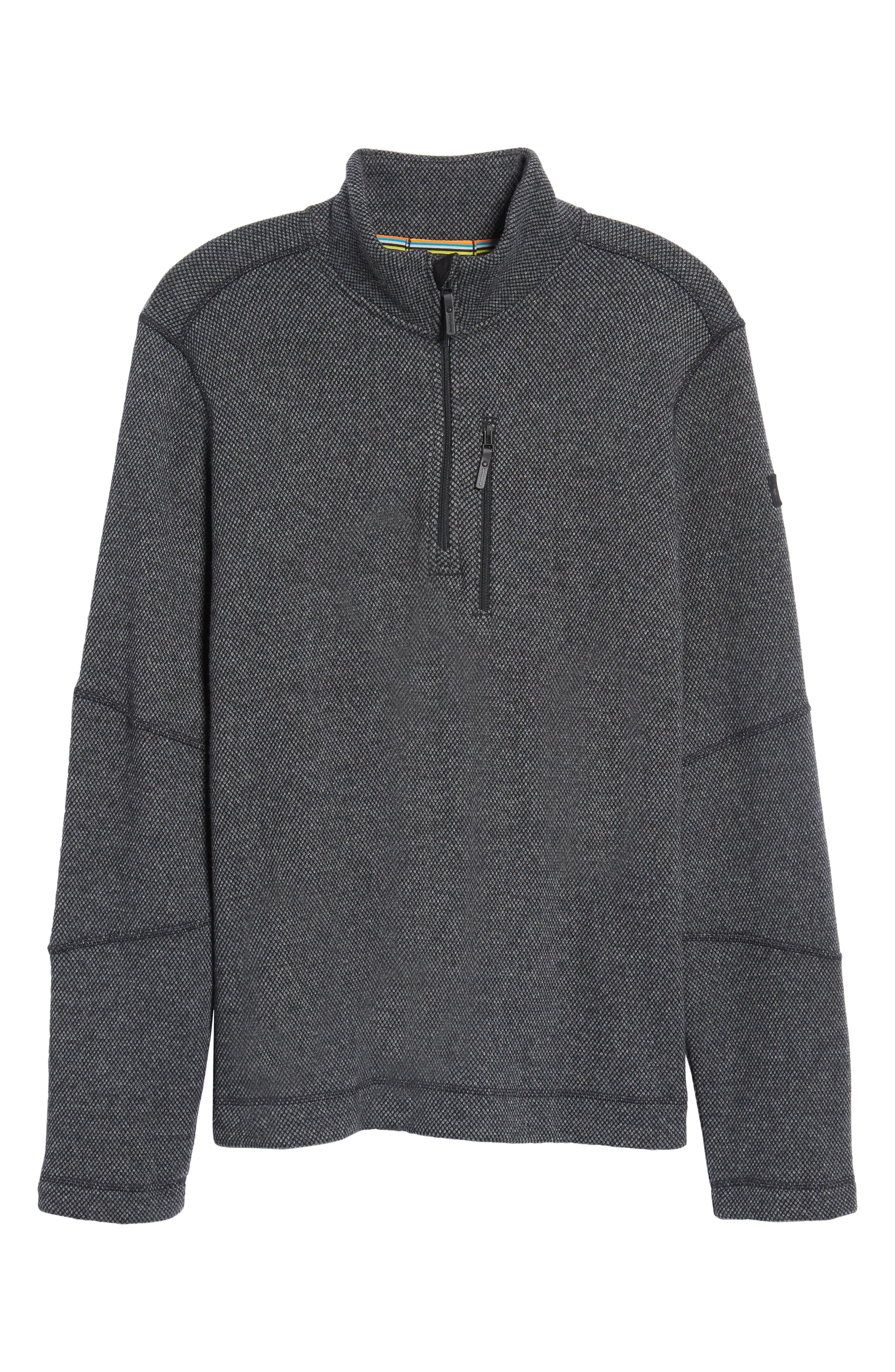 Heritage Trail Fleece Pullover,                             Alternate thumbnail 6, color,                             Charcoal Heather