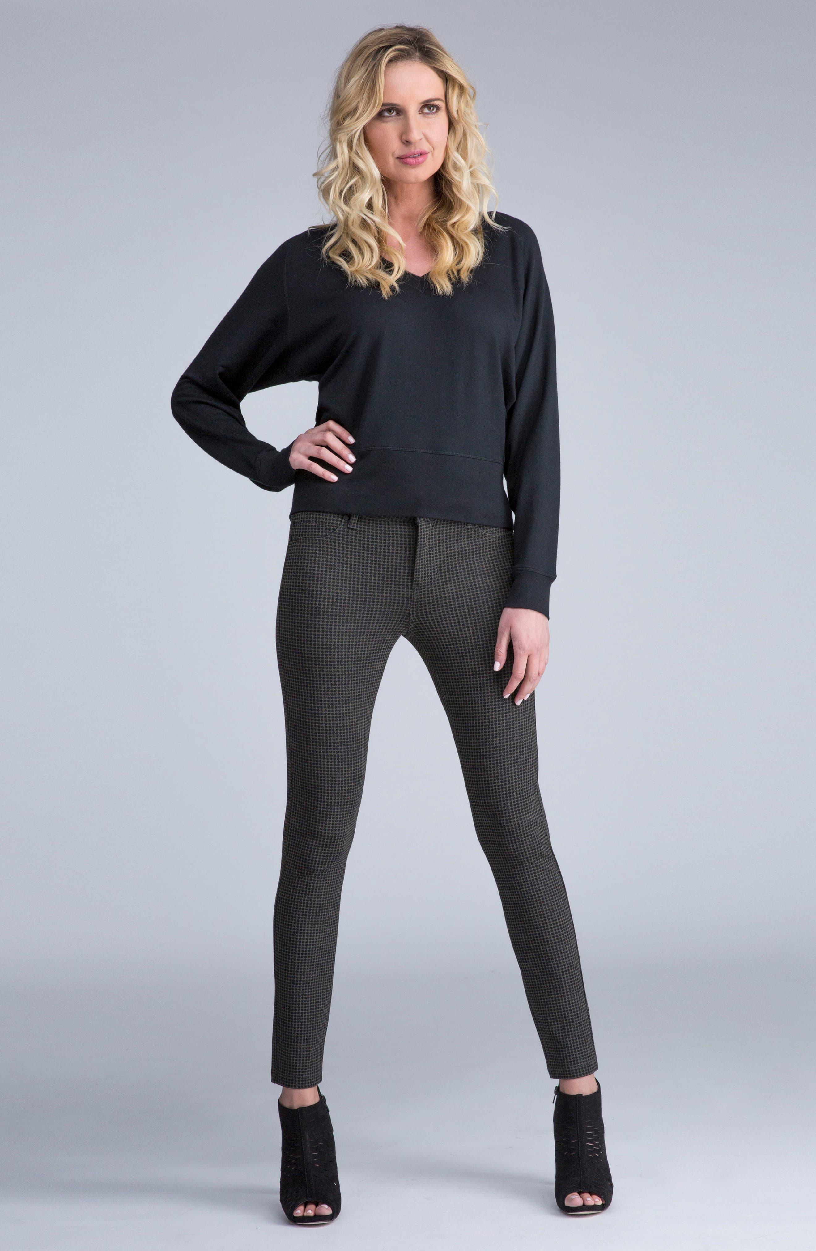 Alternate Image 2  - Liverpool Jeans Company Houndstooth Super Skinny Ponte Knit Pants