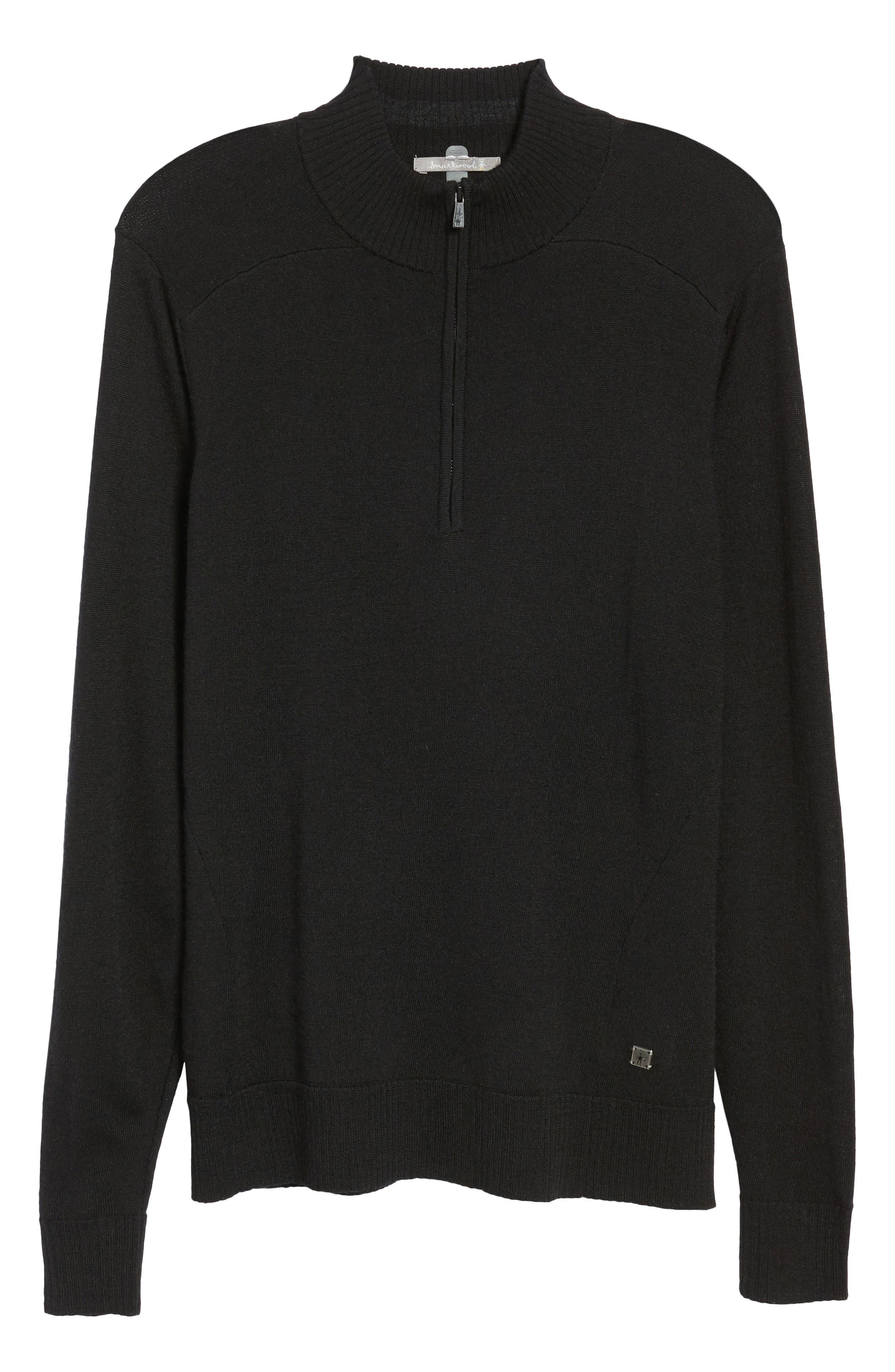 Kiva Ridge Merino Wool Blend Pullover,                             Alternate thumbnail 6, color,                             Black