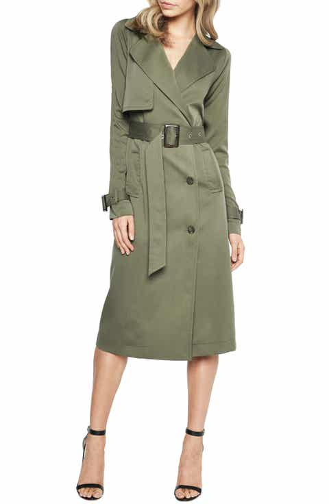 Bardot Military Trench Dress