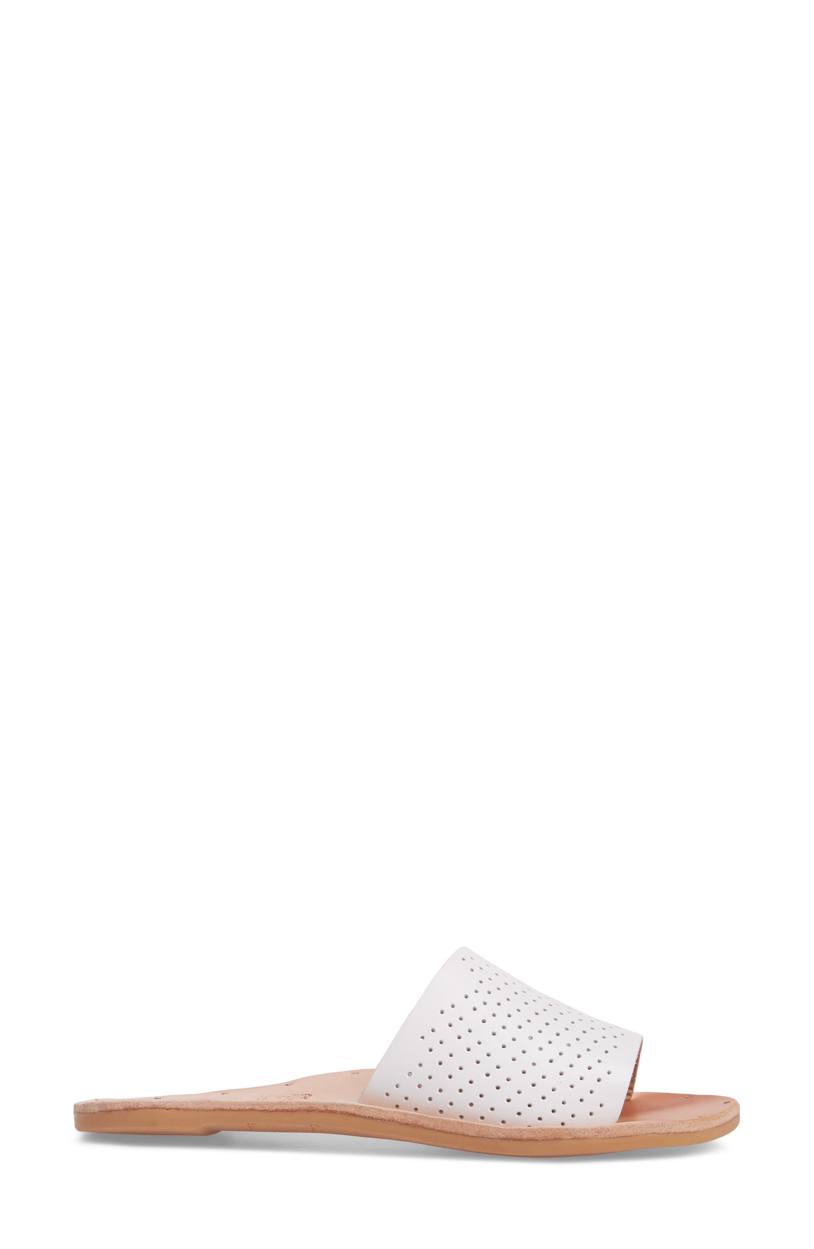 Mockingbird Sandal,                             Alternate thumbnail 3, color,                             White Perf/ Tan
