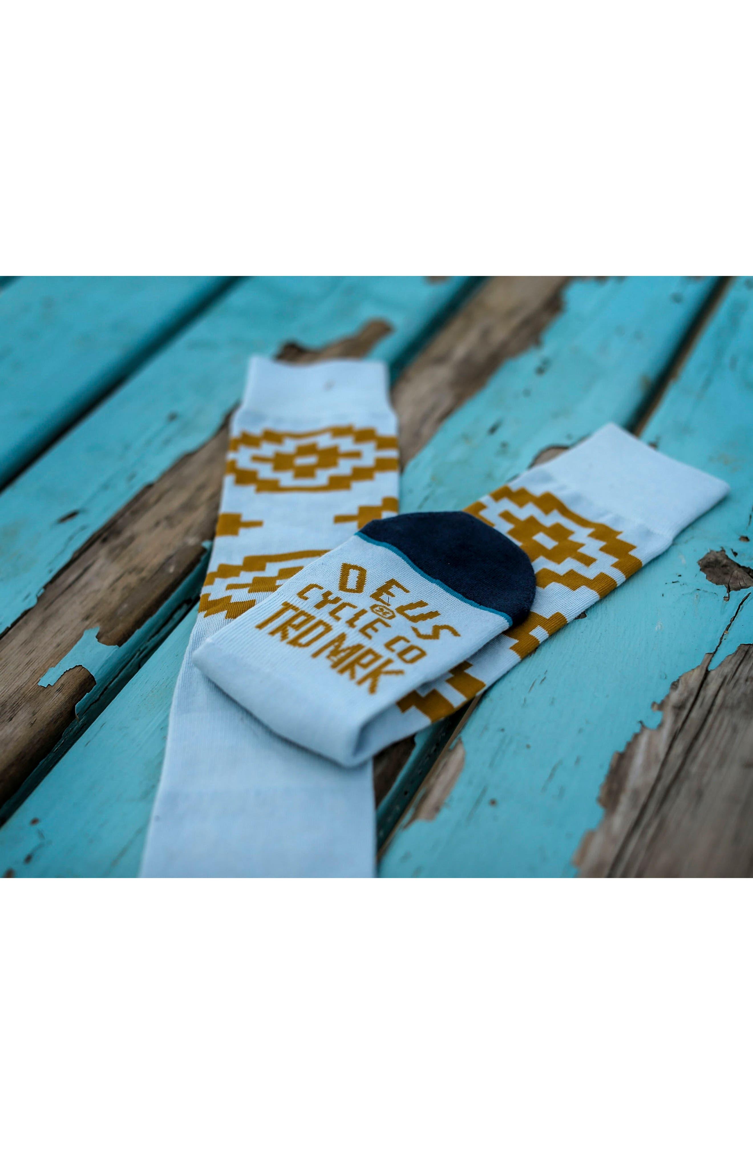 Cairns Crew Socks,                             Alternate thumbnail 4, color,                             Blue