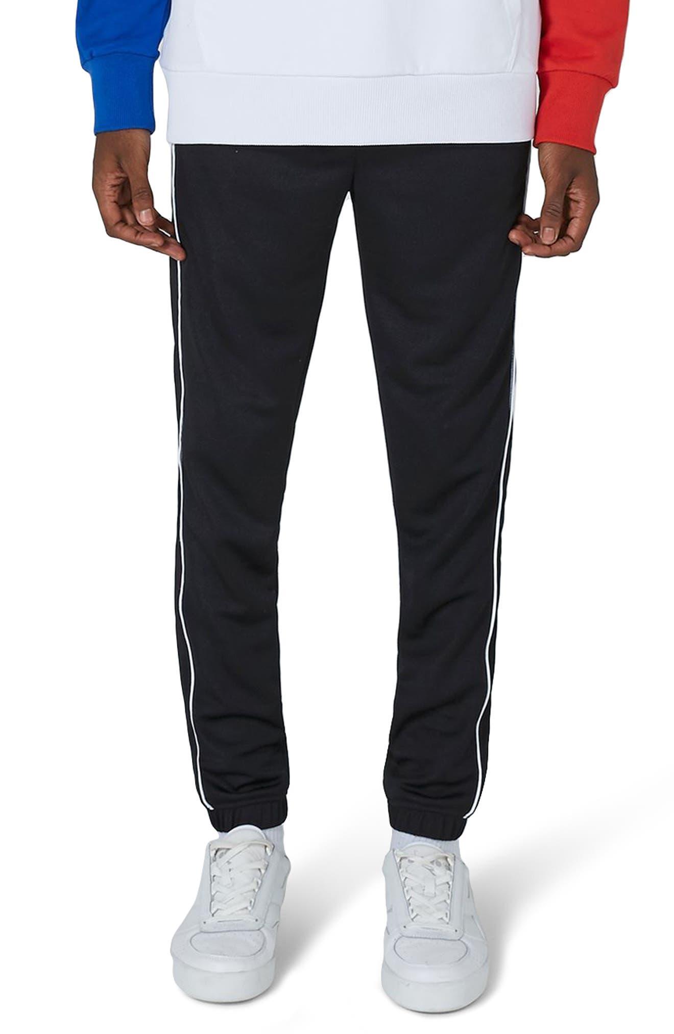 Piped Jogger Pants,                         Main,                         color, Black