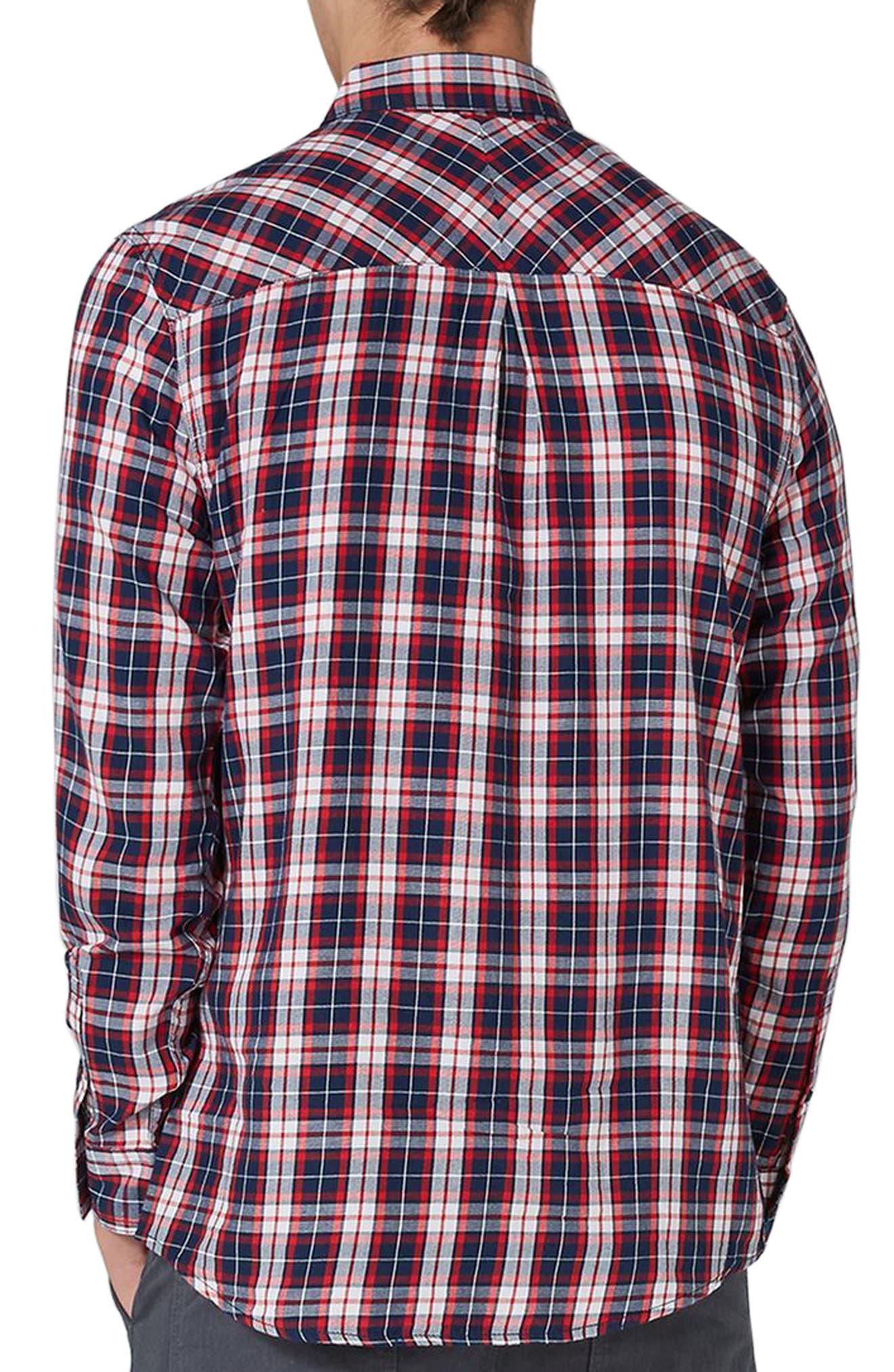 Classic Fit Check Shirt,                             Alternate thumbnail 2, color,                             Navy Multi