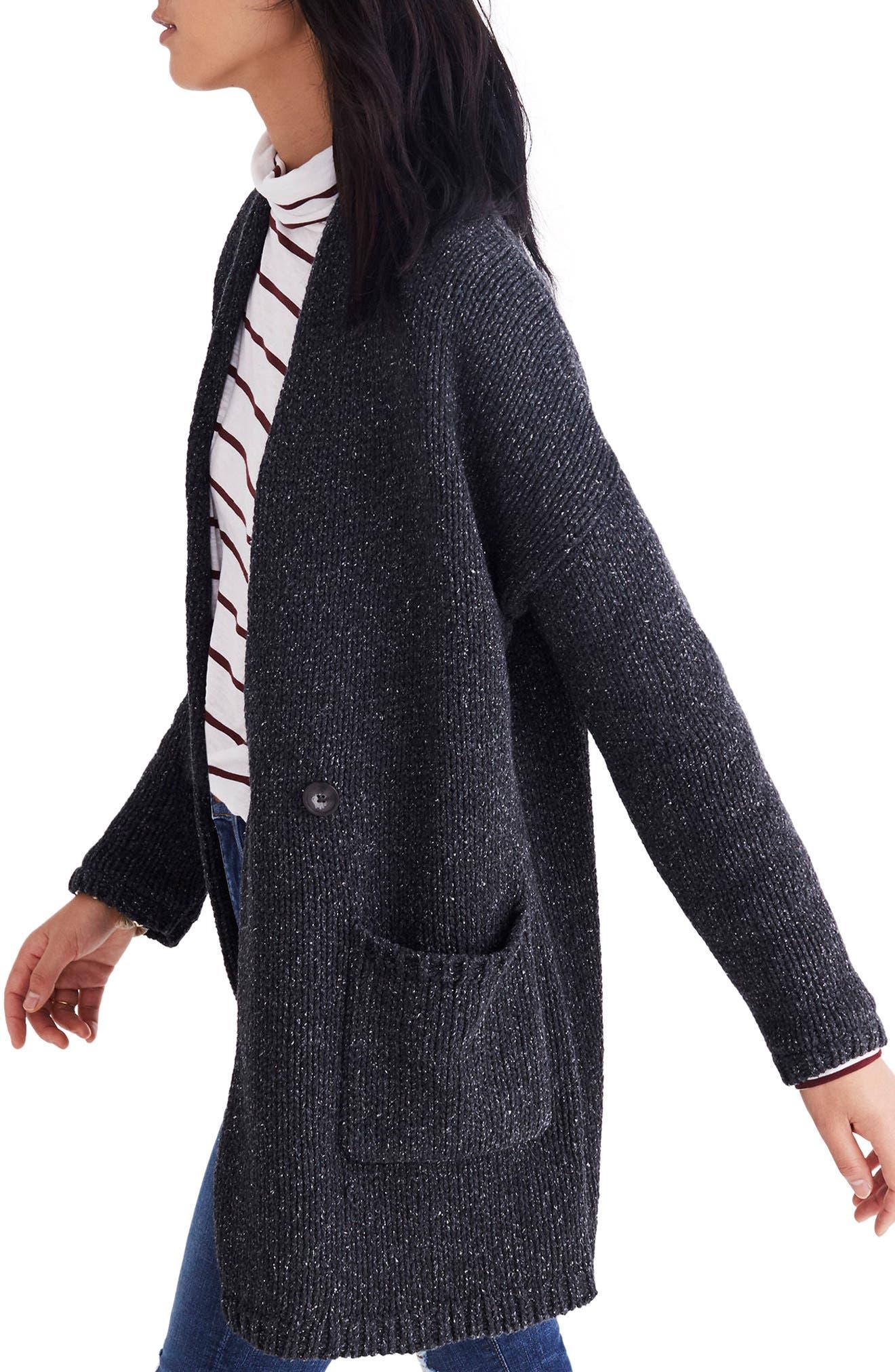 Glenhill Sweater Coat,                             Alternate thumbnail 3, color,                             Ashland Slate